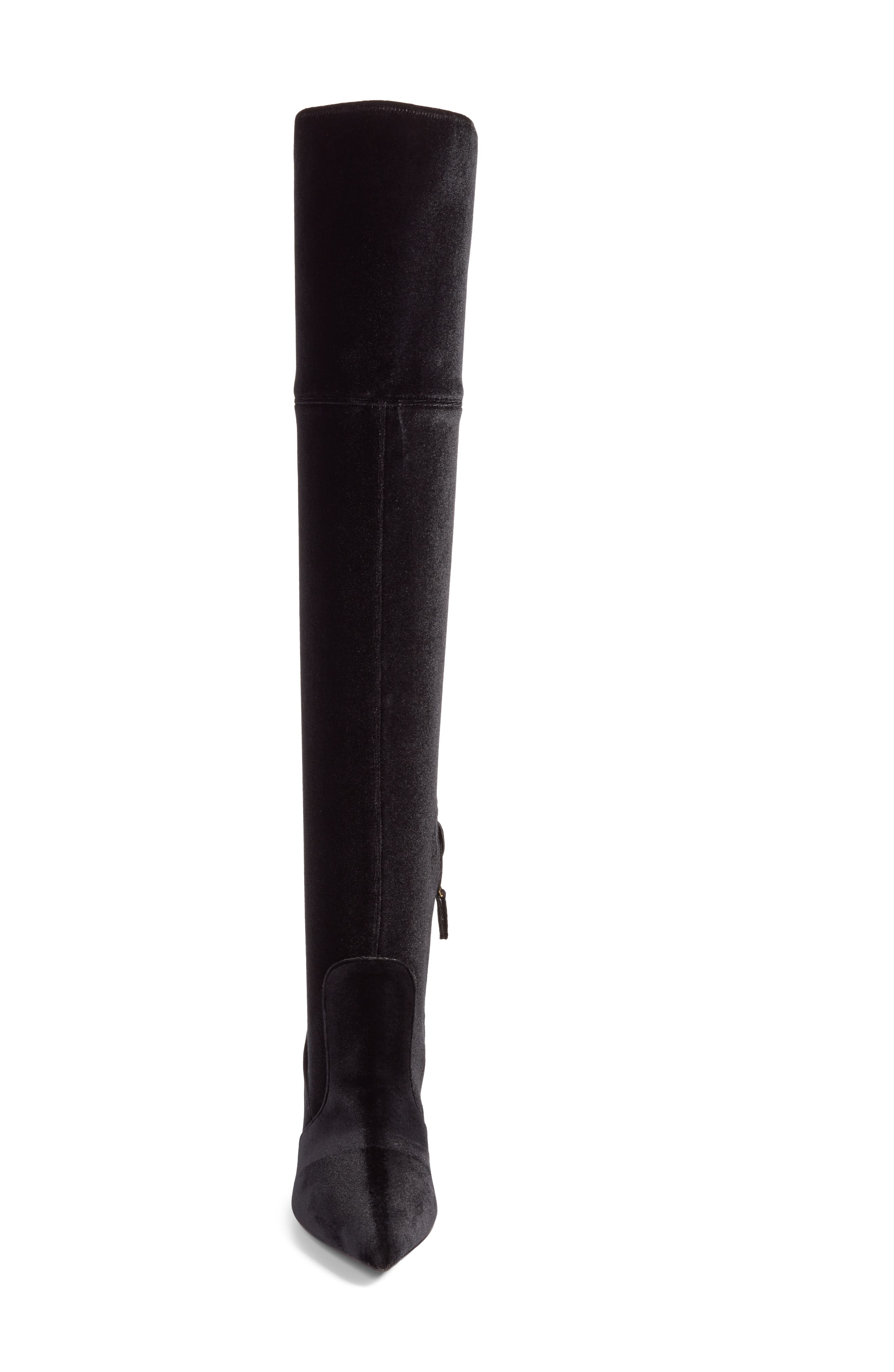 Over the Knee Boot,                             Alternate thumbnail 4, color,                             Black