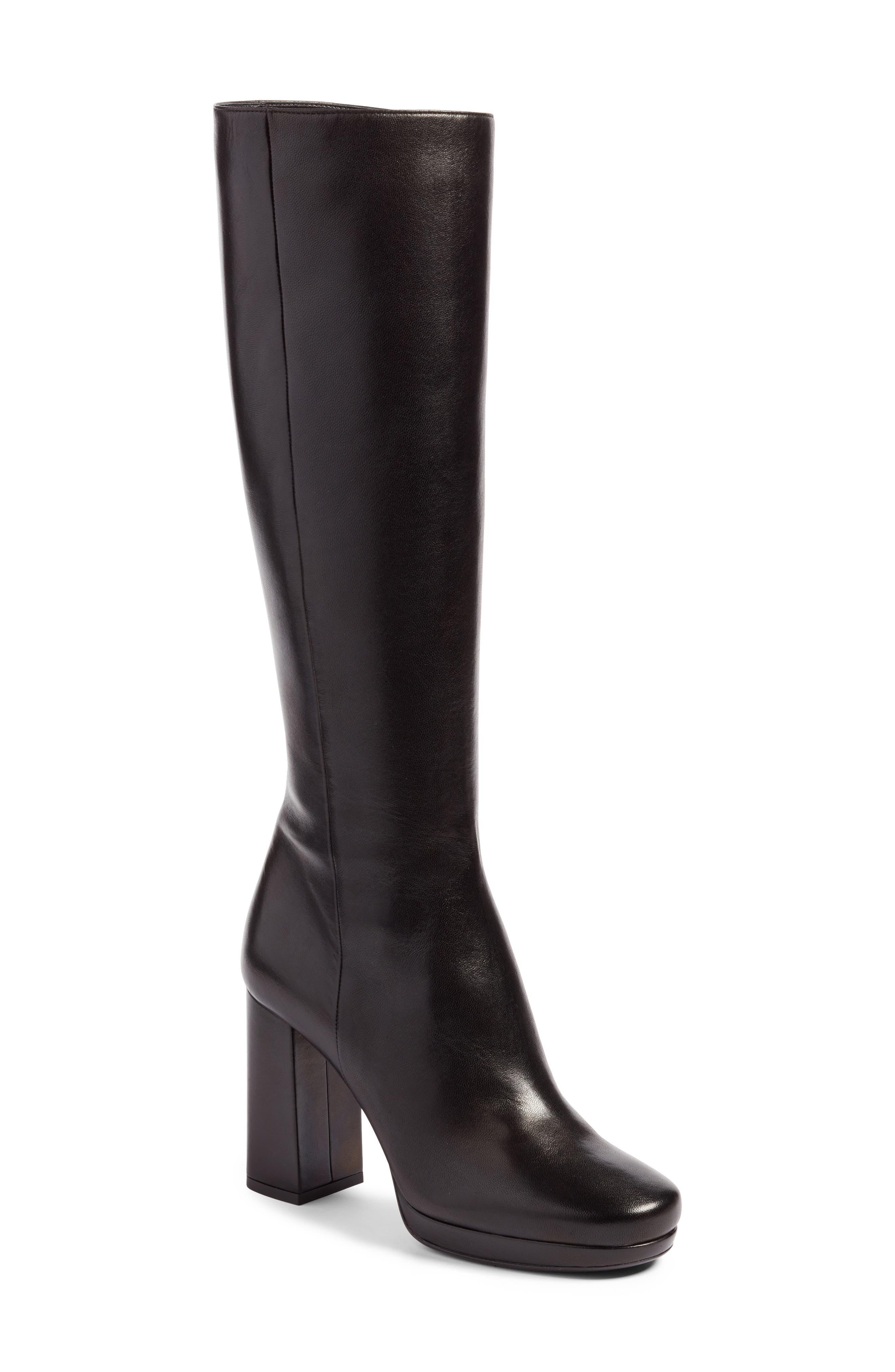 Alternate Image 1 Selected - Prada Block Heel Tall Boot (Women)