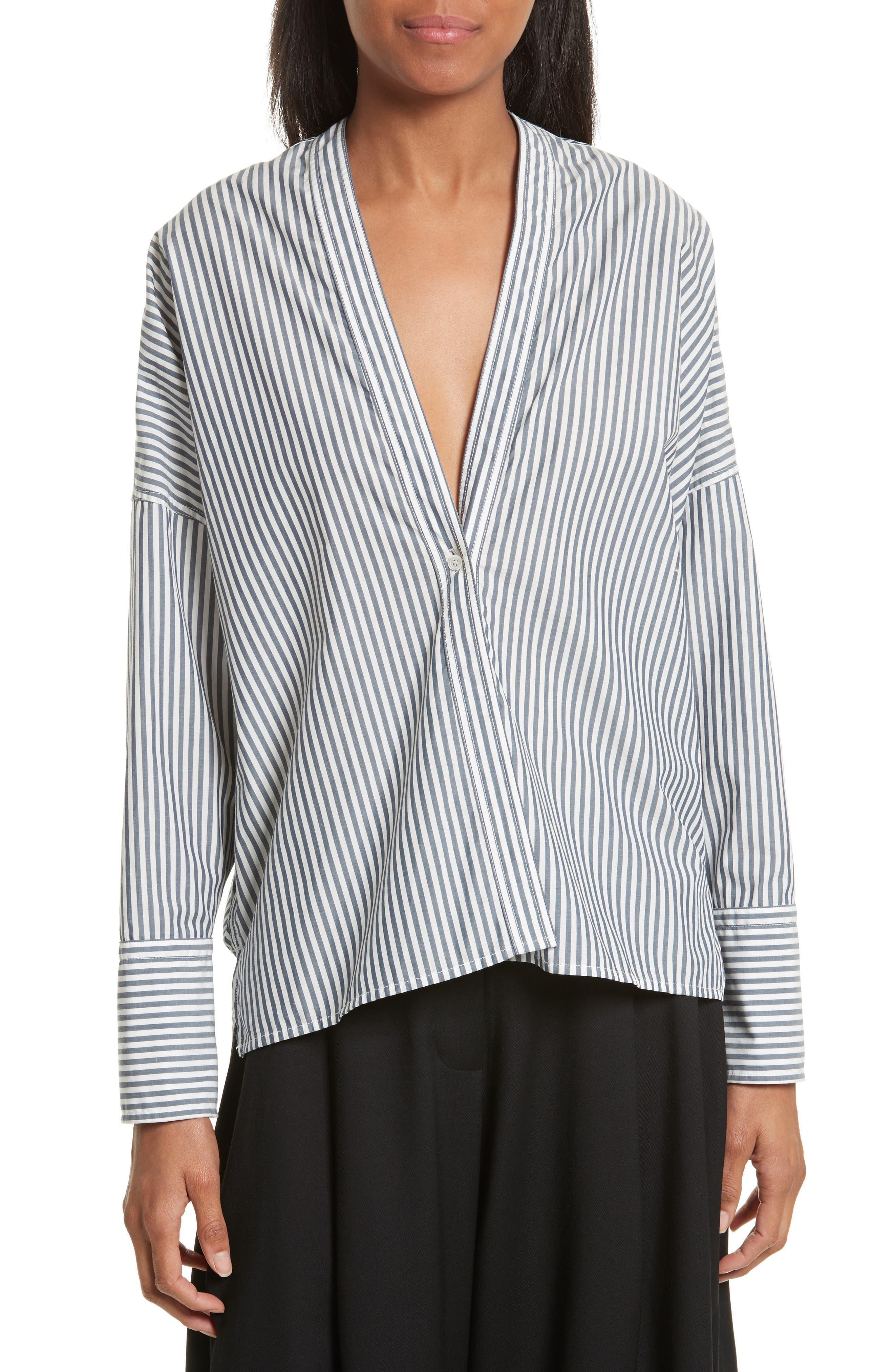 Main Image - Nili Lotan Sabine Stripe Cotton Top