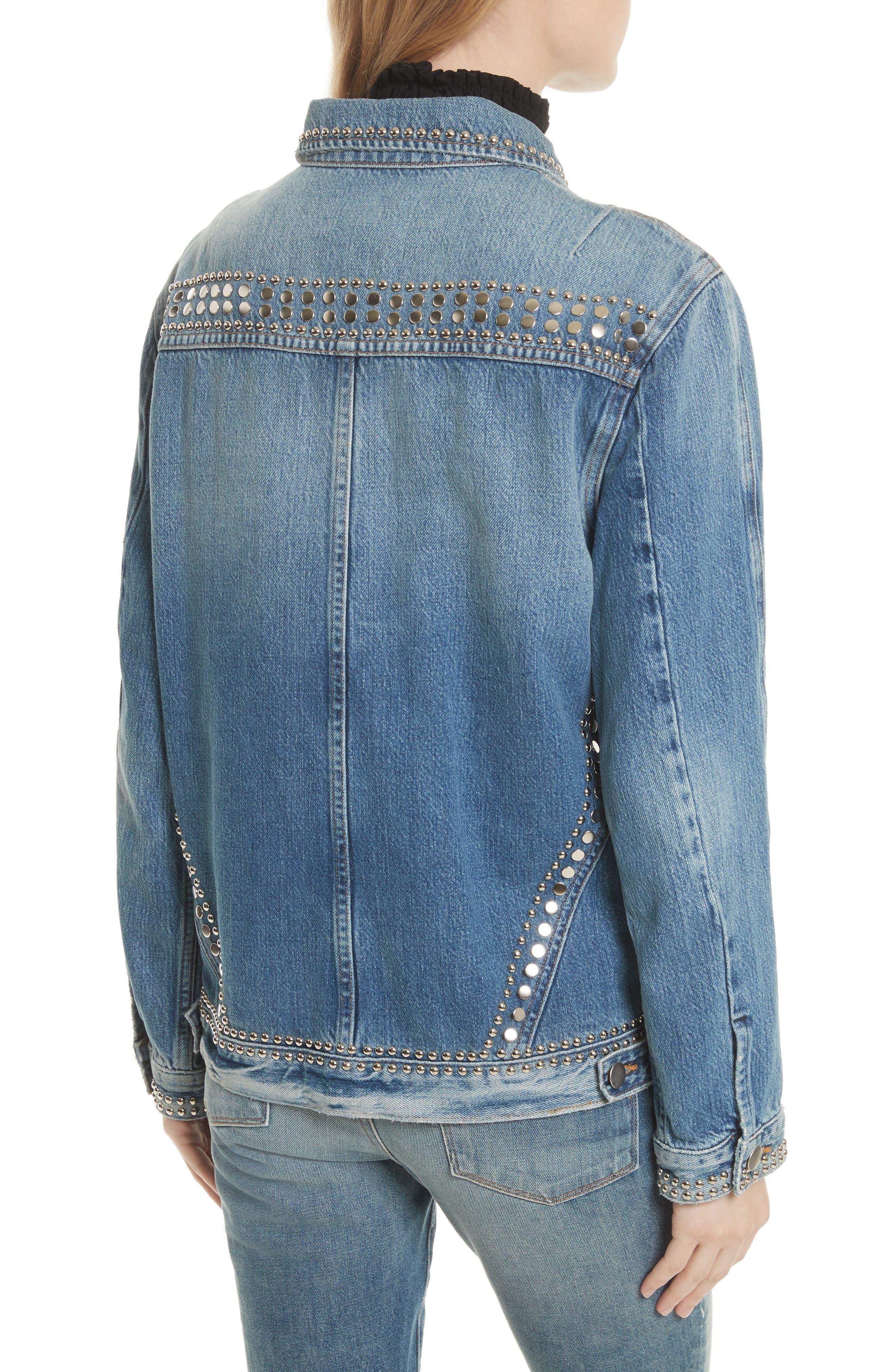 Alternate Image 3  - FRAME Le Studded Denim Jacket