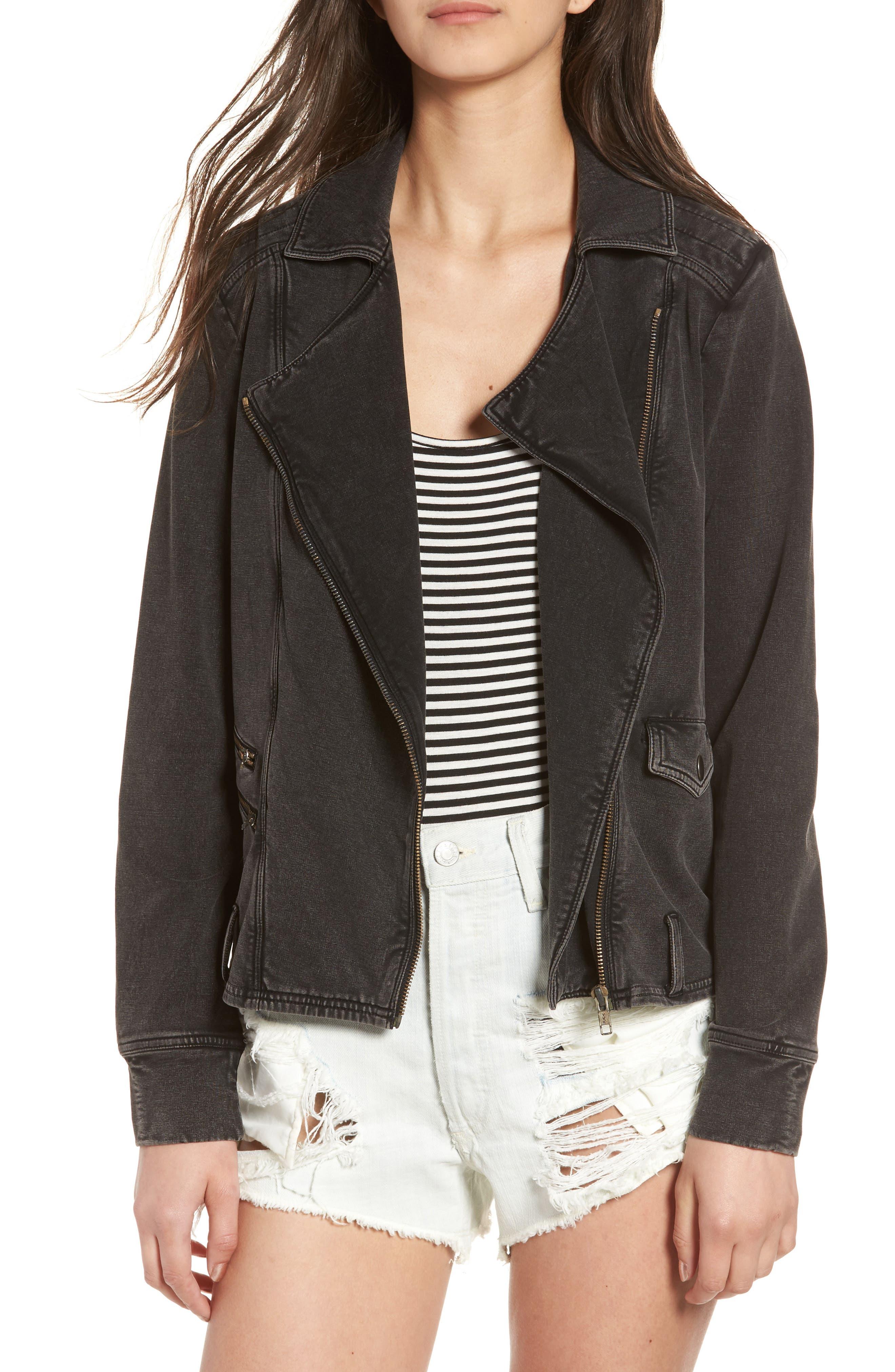 Main Image - BP. Knit Moto Jacket