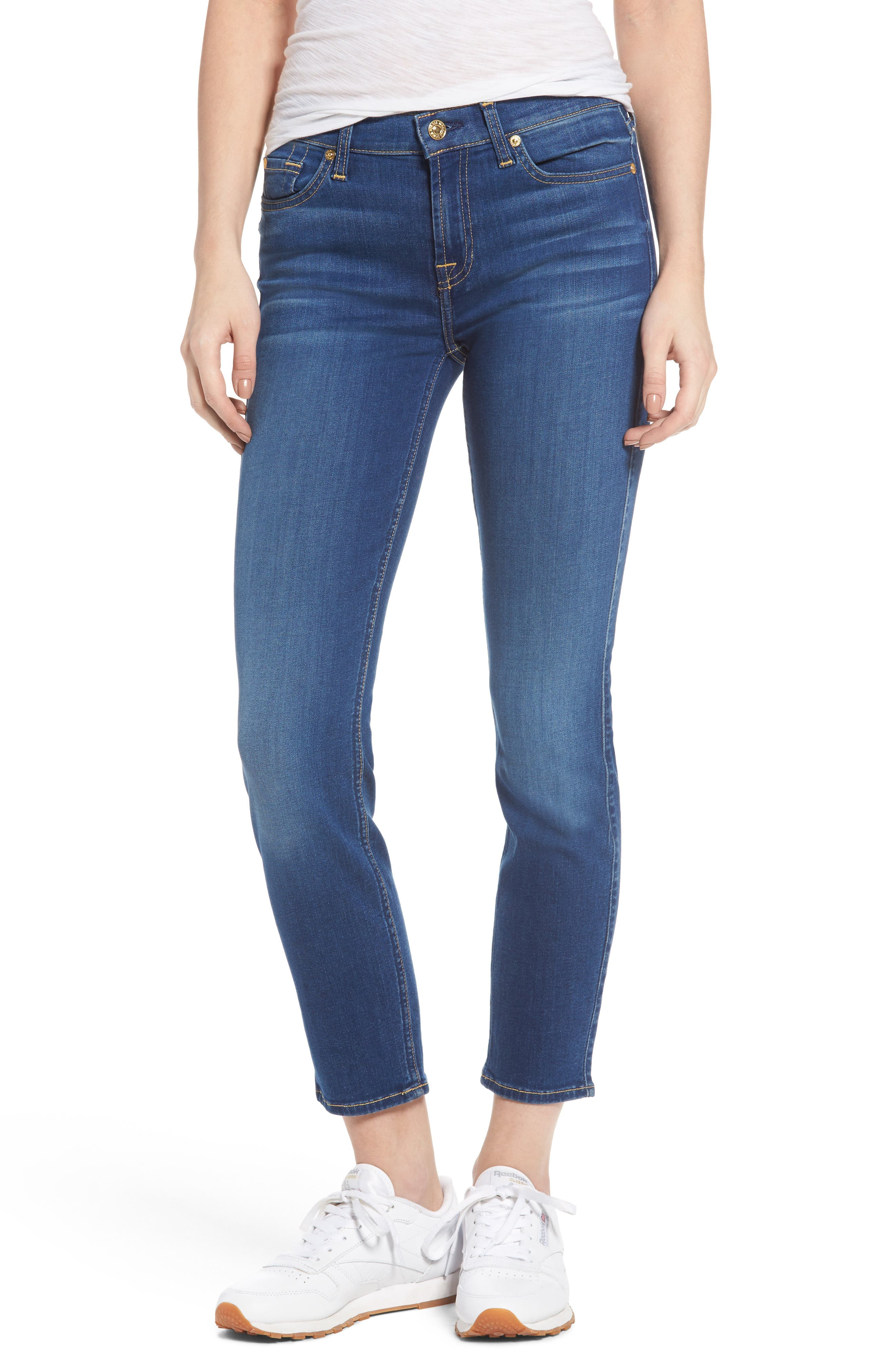 Main Image - 7 For All Mankind® Roxanne Ankle Skinny Jeans (Manhattan)