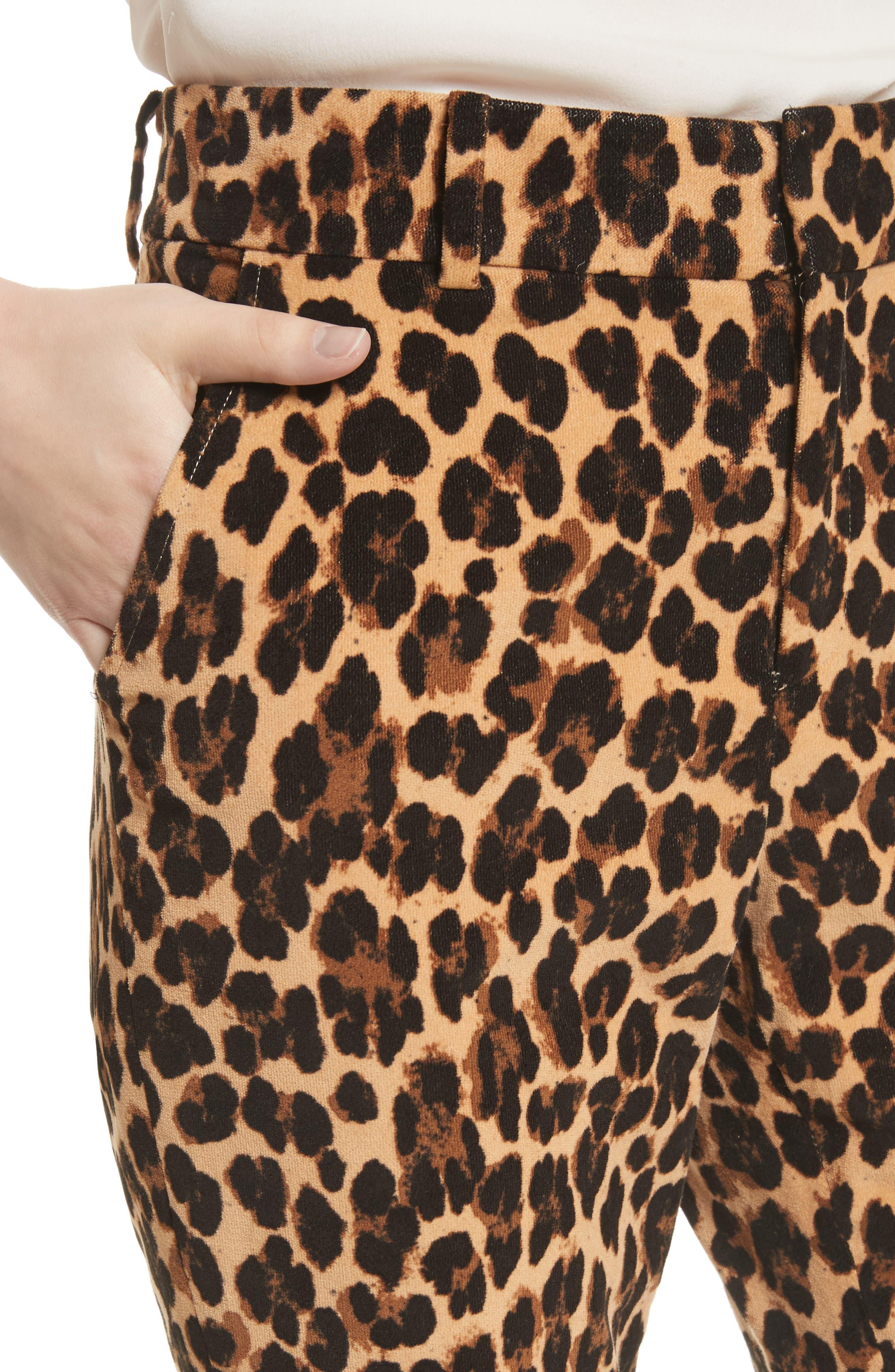 Alternate Image 5  - FRAME Cheetah Print Velvet Crop Flare Pants