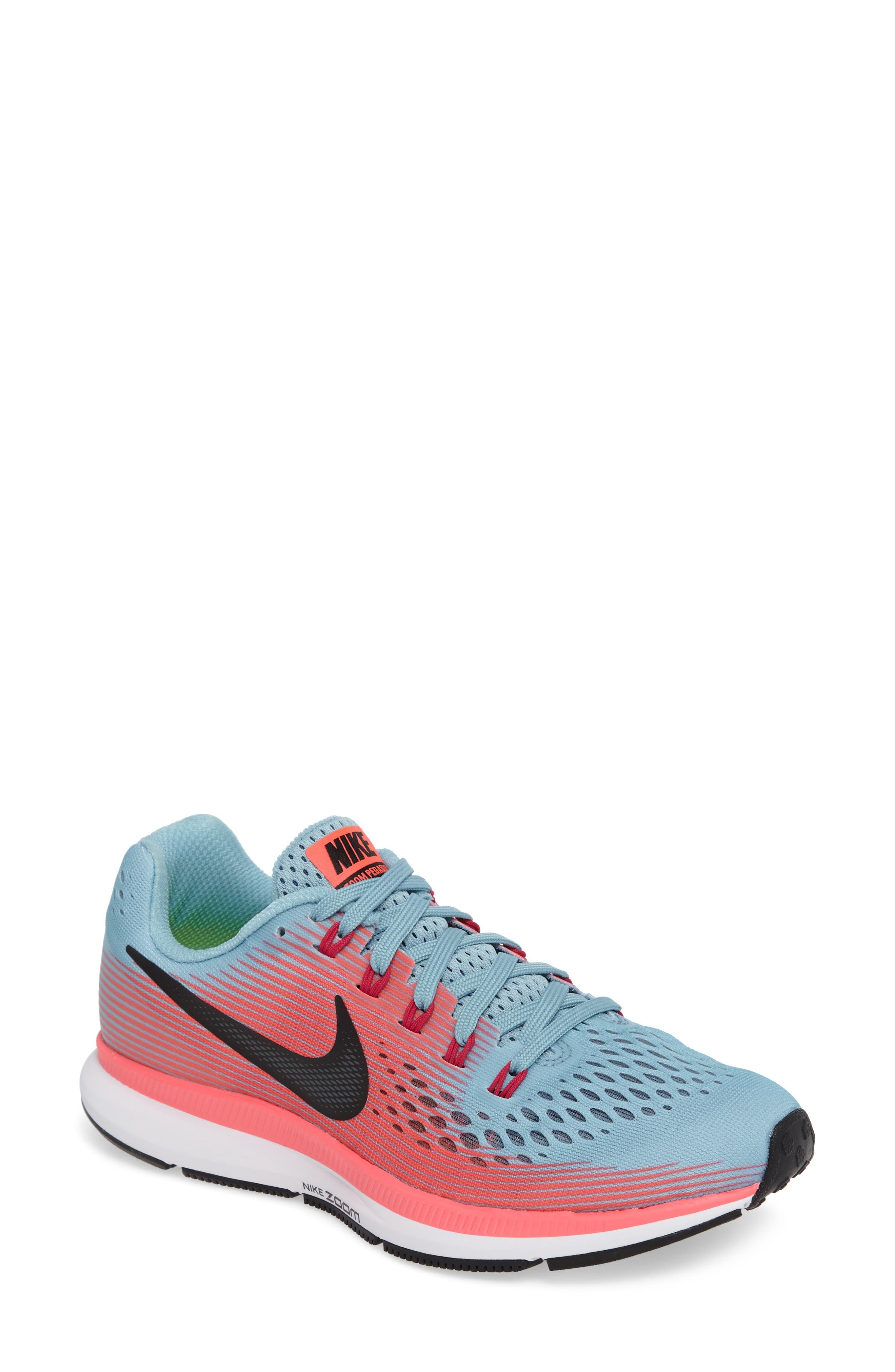 Air Zoom Pegasus 34 Running Shoe,                             Main thumbnail 1, color,                             Blue/ White/ Pink/ Fuchsia