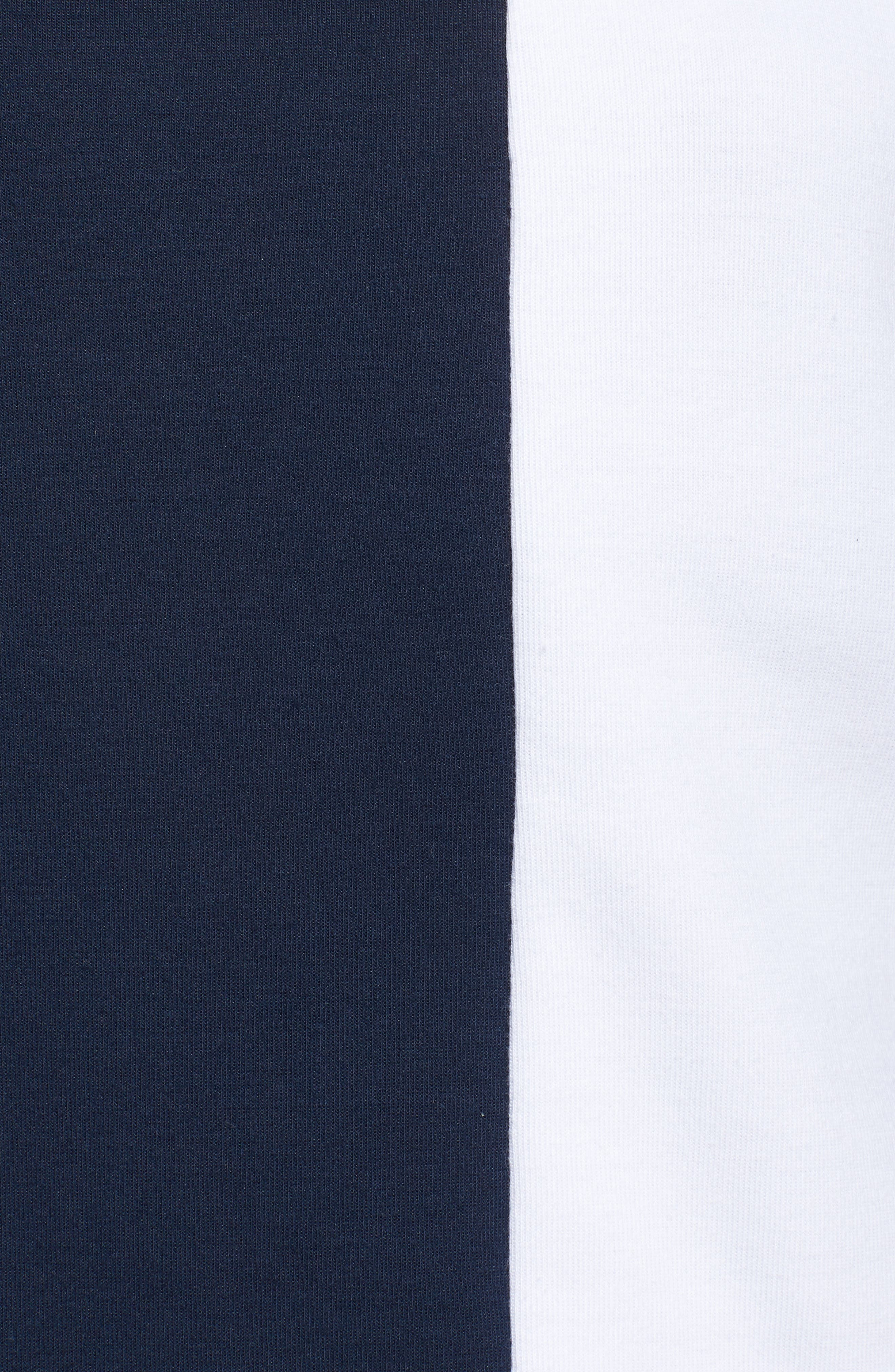 Crop Colorblock Turtleneck,                             Alternate thumbnail 6, color,                             Collegiate Navy