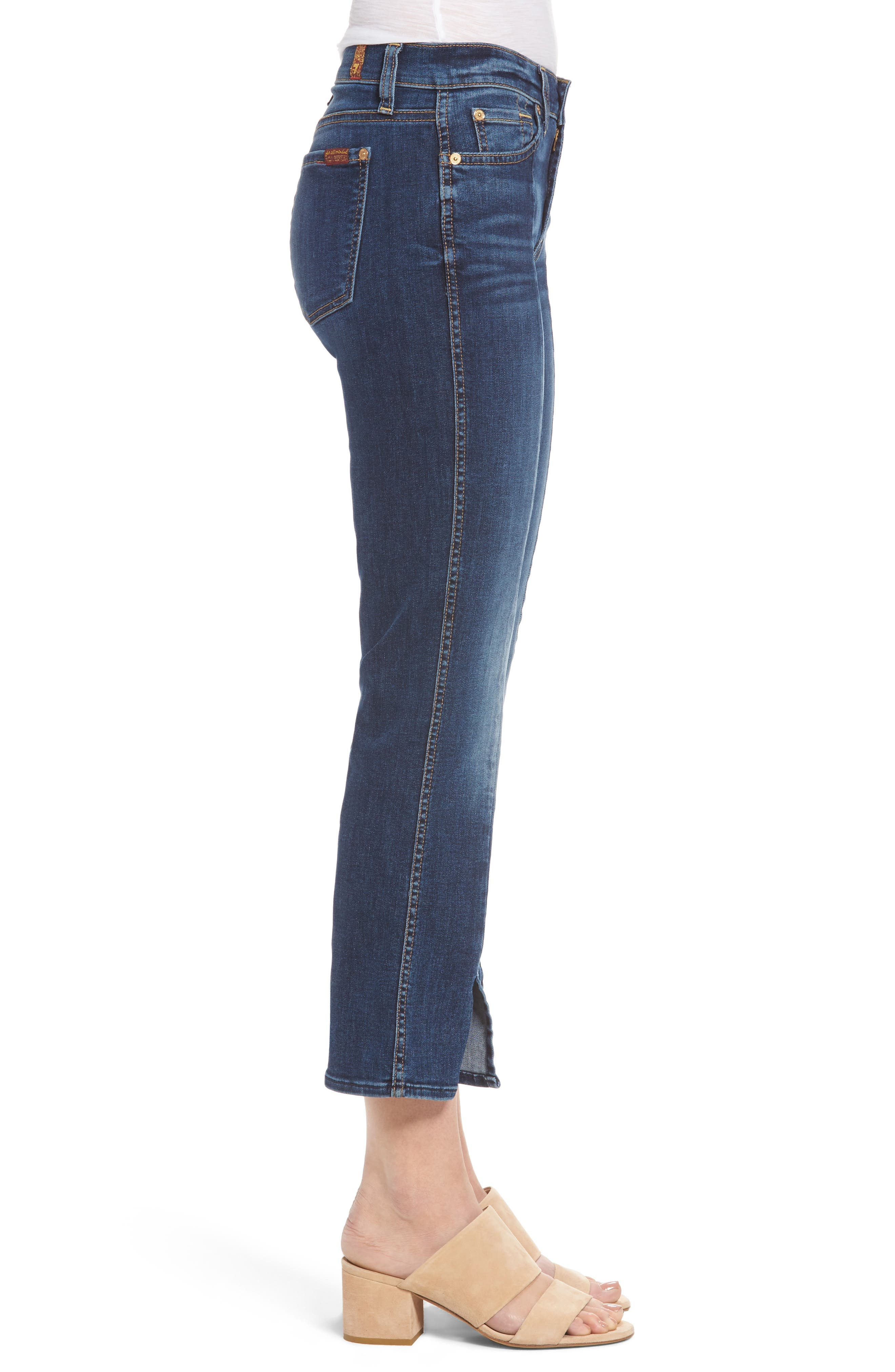 Alternate Image 3  - 7 For All Mankind® Crop Bootcut Jeans (Stunning Bleeker)