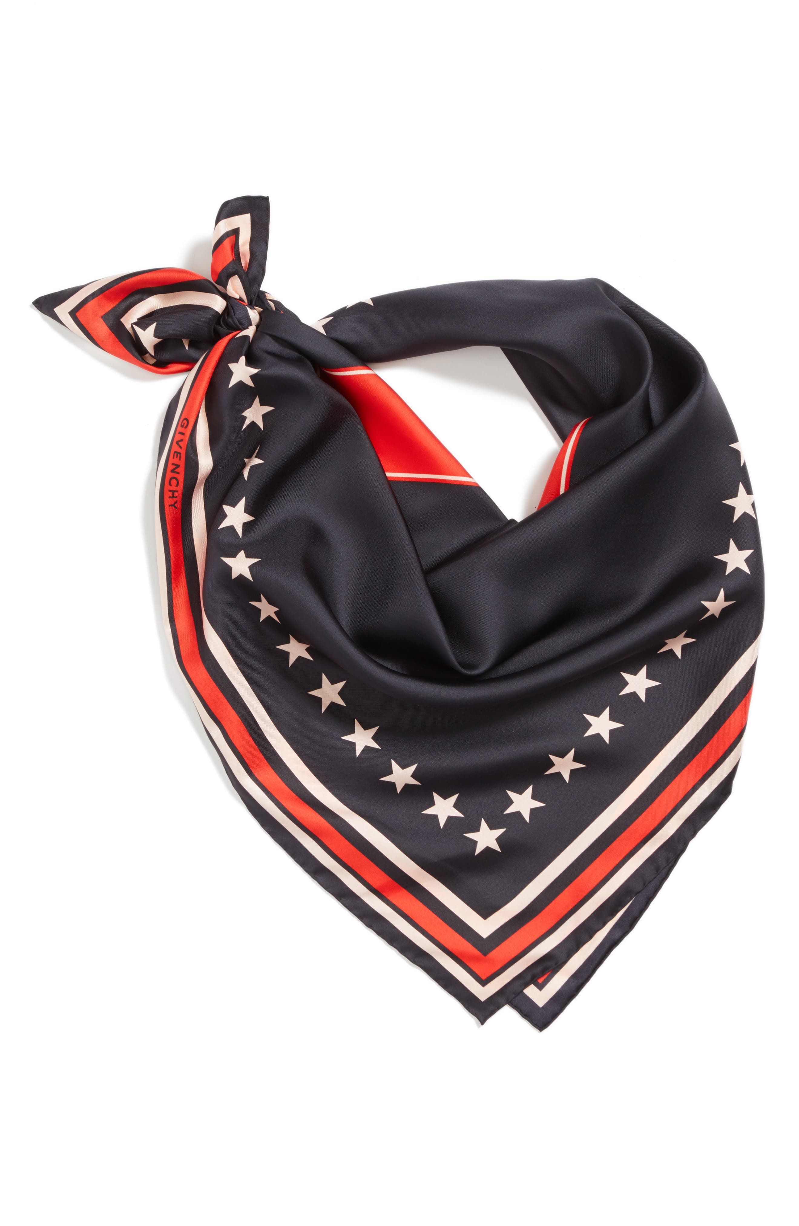 Alternate Image 3  - Givenchy '17' Square Silk Scarf