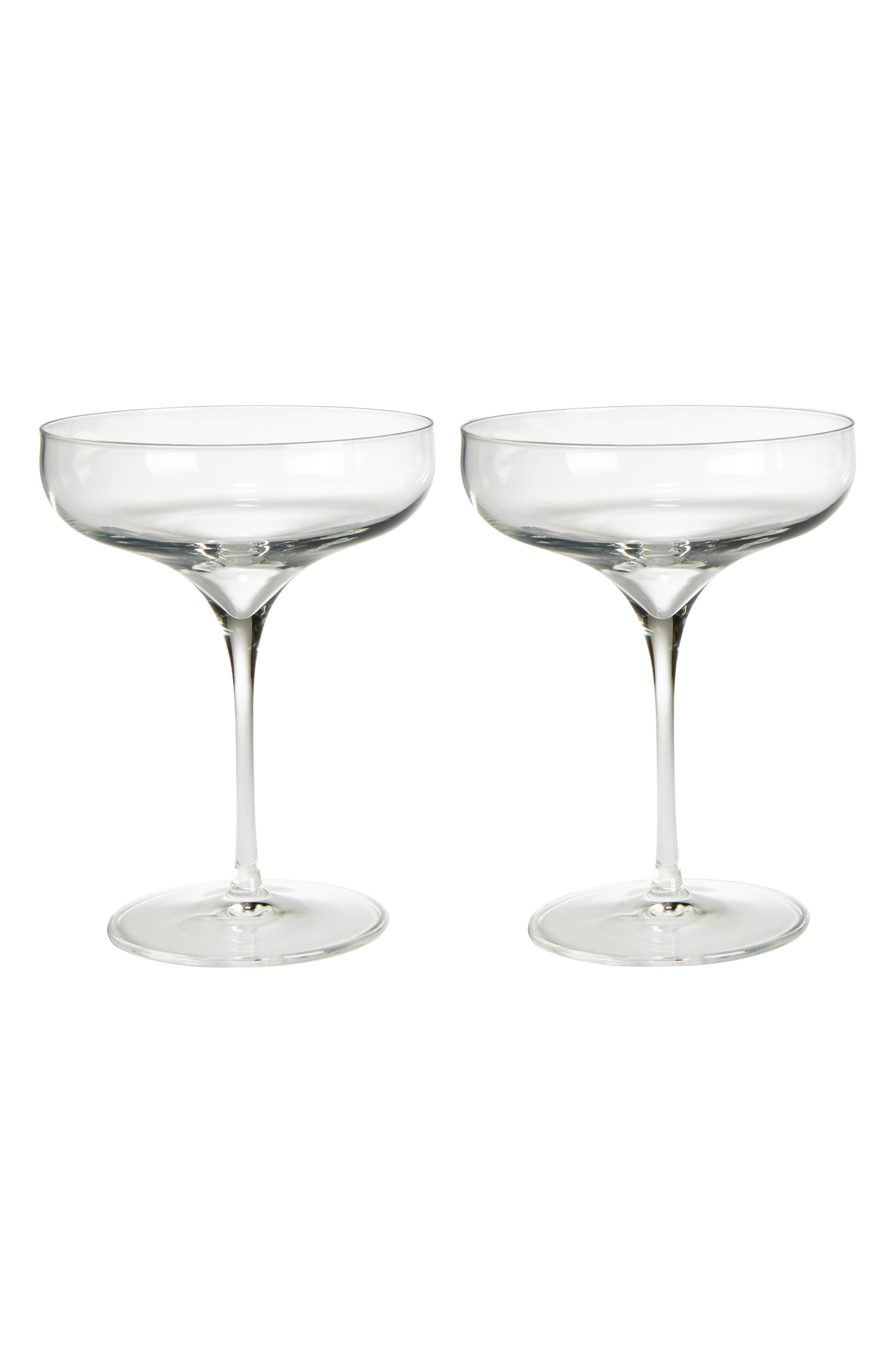 Main Image - Luigi Bormiolo Vinea Moscato/Spumante Set of 2 Coupe Glasses