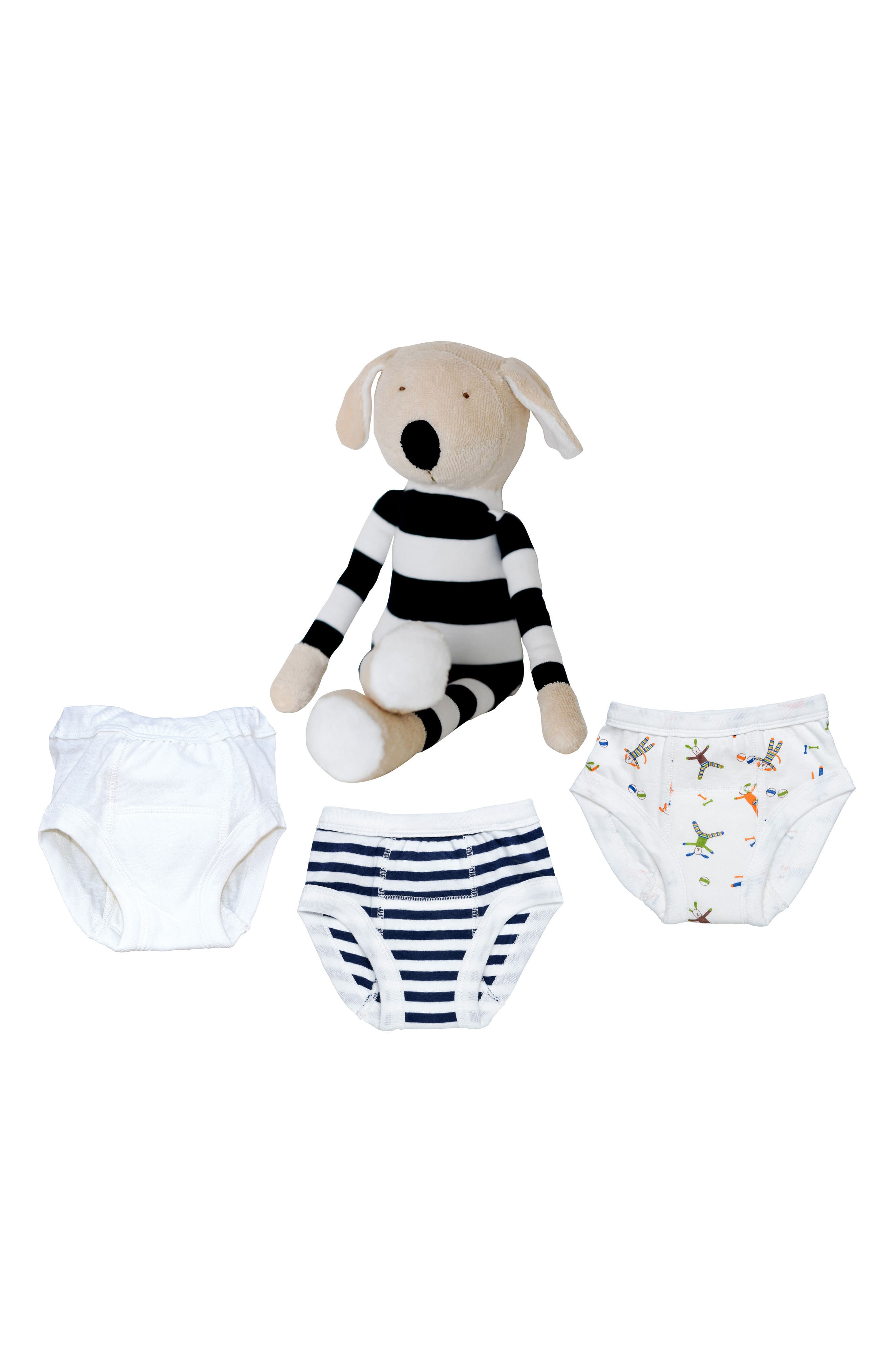Under the Nile 4-Piece Training Pants & Buddy Stuffed Animal Set