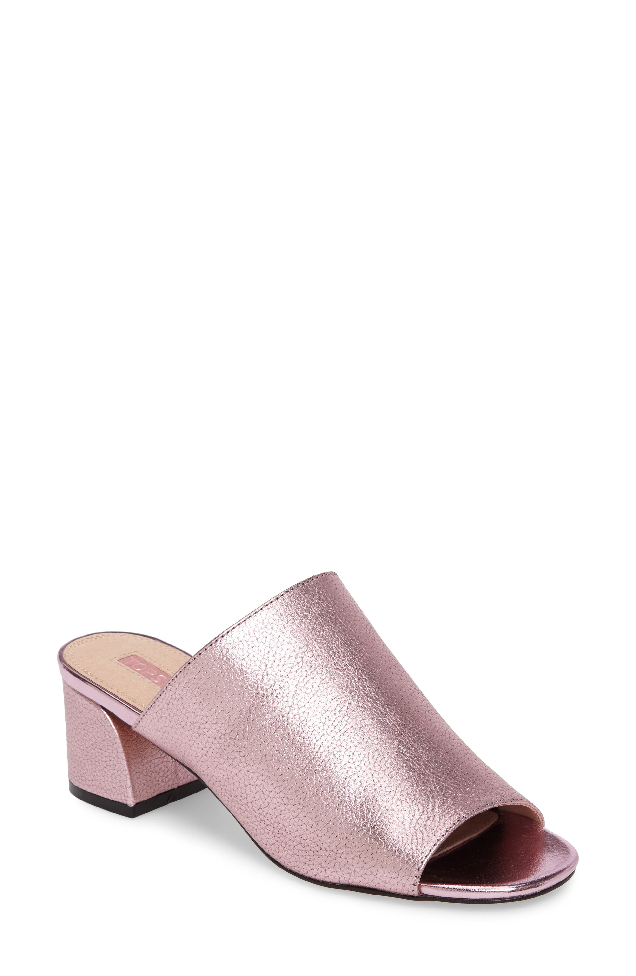 Topshop Notorious Metallic Slide Sandal (Women)