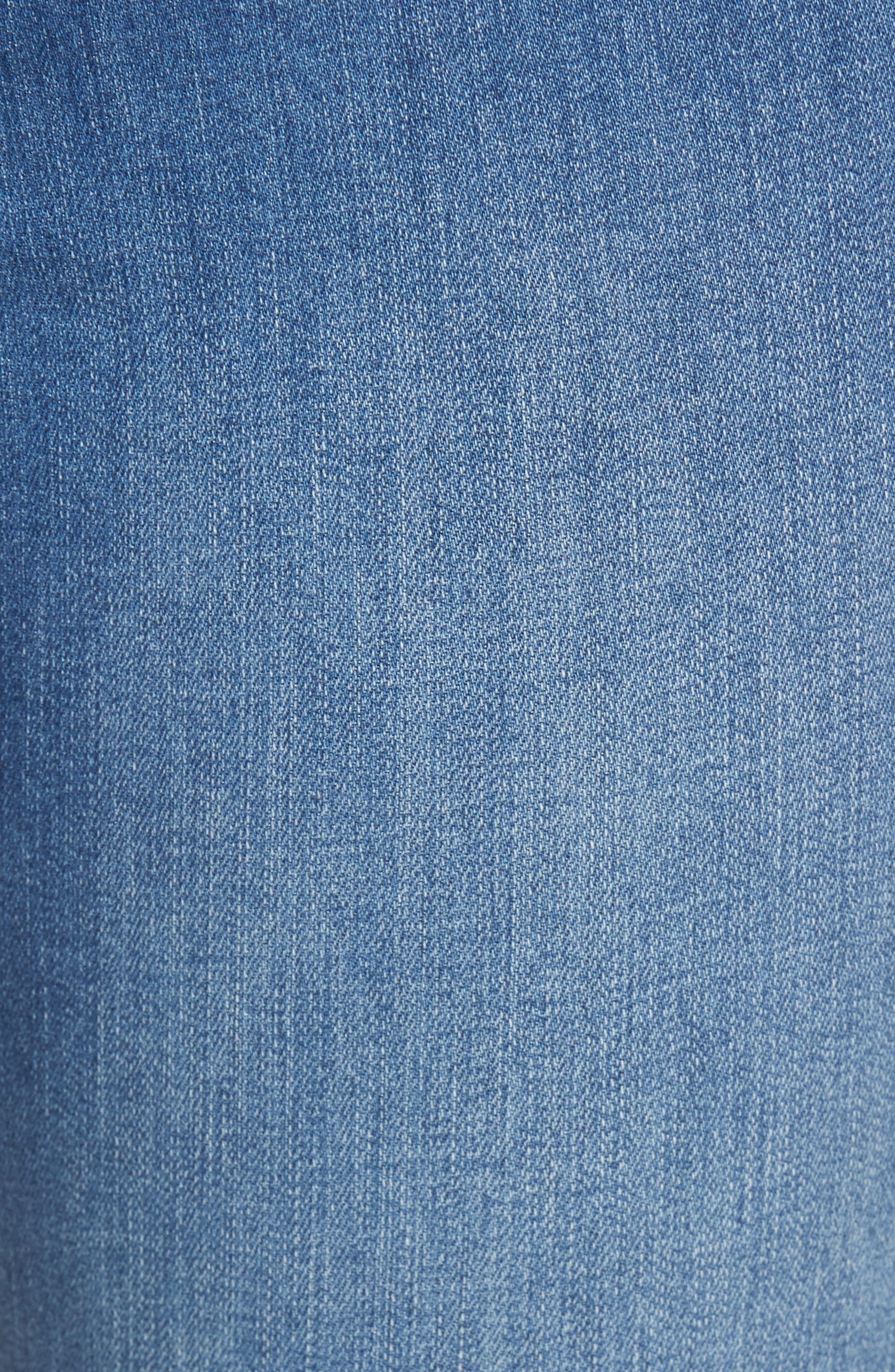 Alternate Image 5  - NYDJ Sheri Embroidered Stretch Slim Crop Jeans (Evansdale)