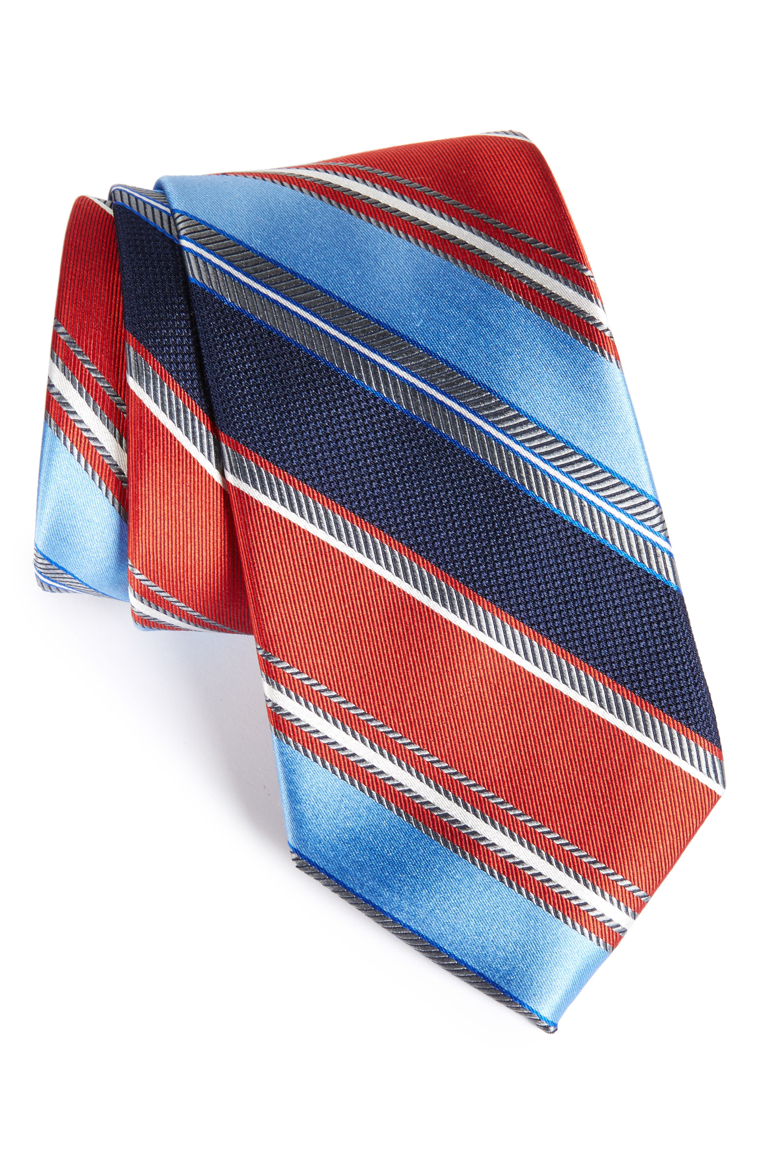 NORDSTROM MENS SHOP Regal Stripe Silk Tie