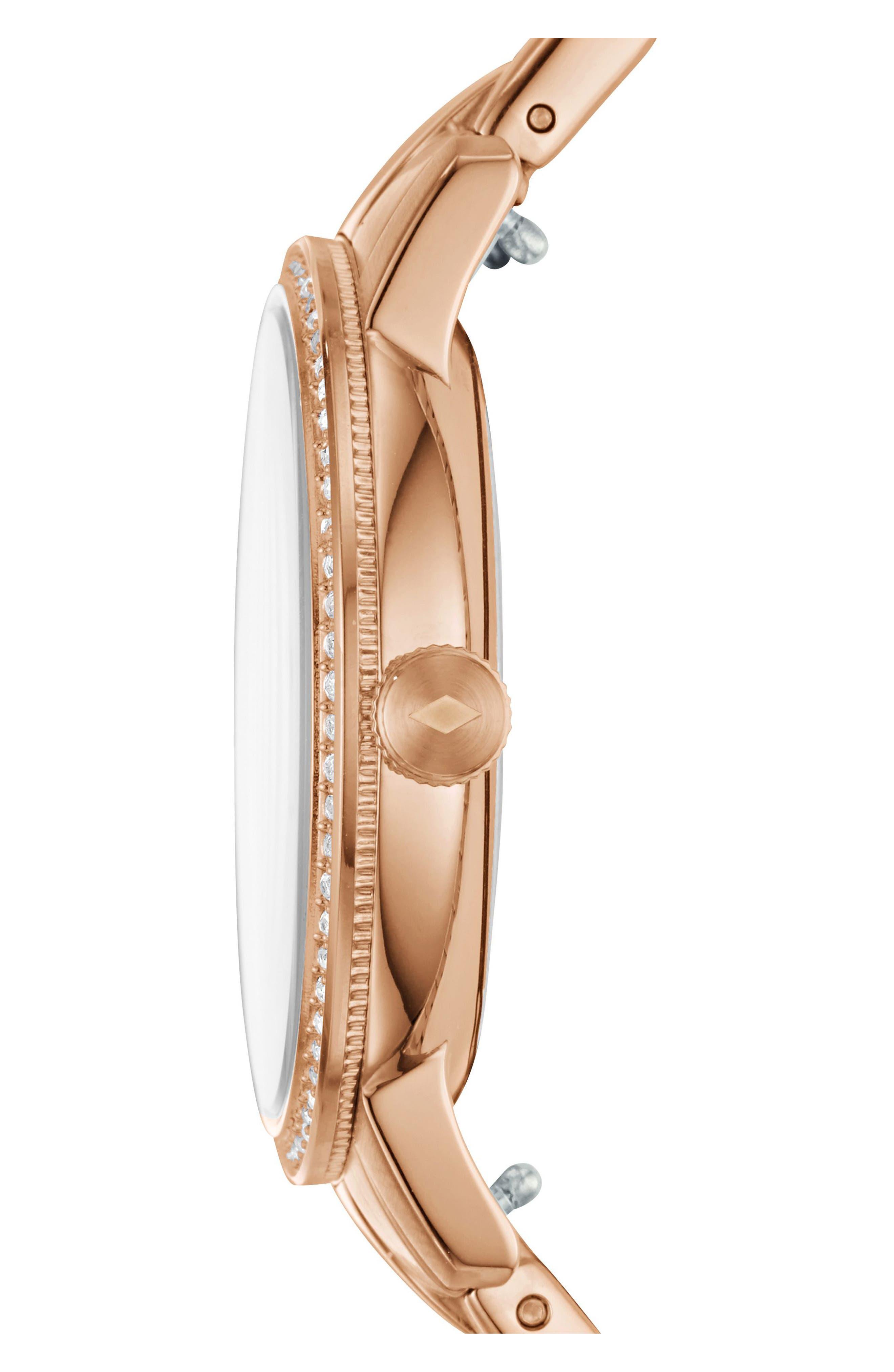Neely Bracelet Watch, 35mm,                             Alternate thumbnail 2, color,                             Rose Gold