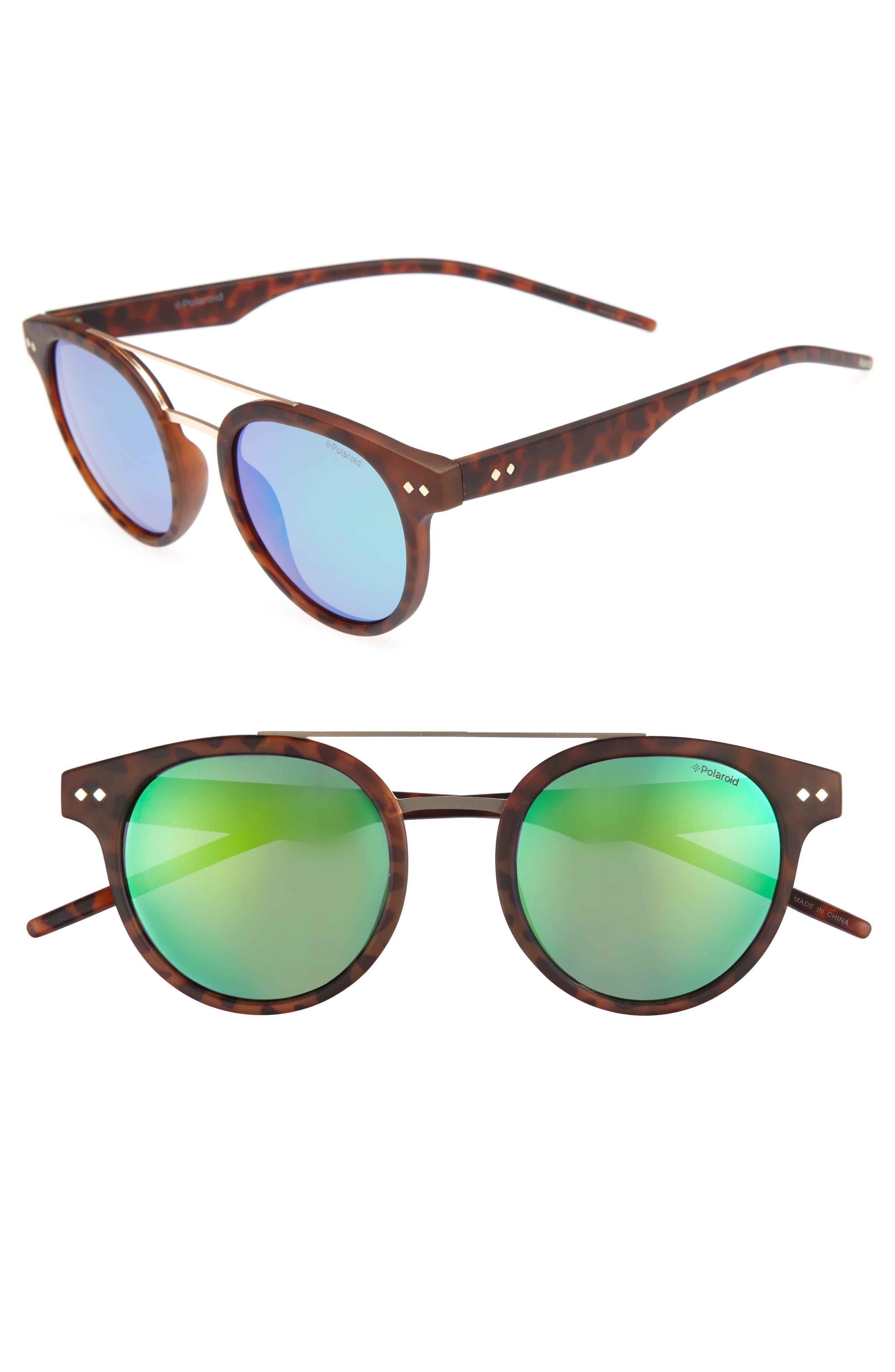 Polaroid 49mm Polarized Retro Sunglasses