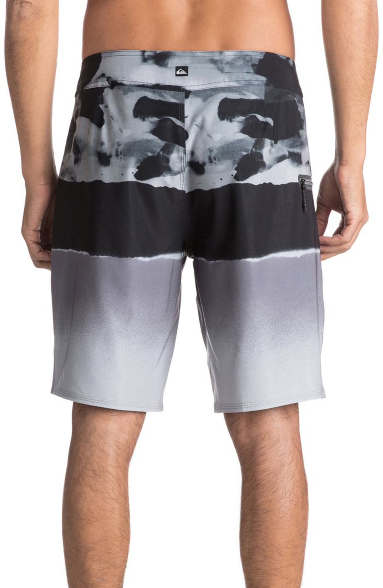 Alternate Image 2  - Quiksilver Blocked Resin Board Shorts