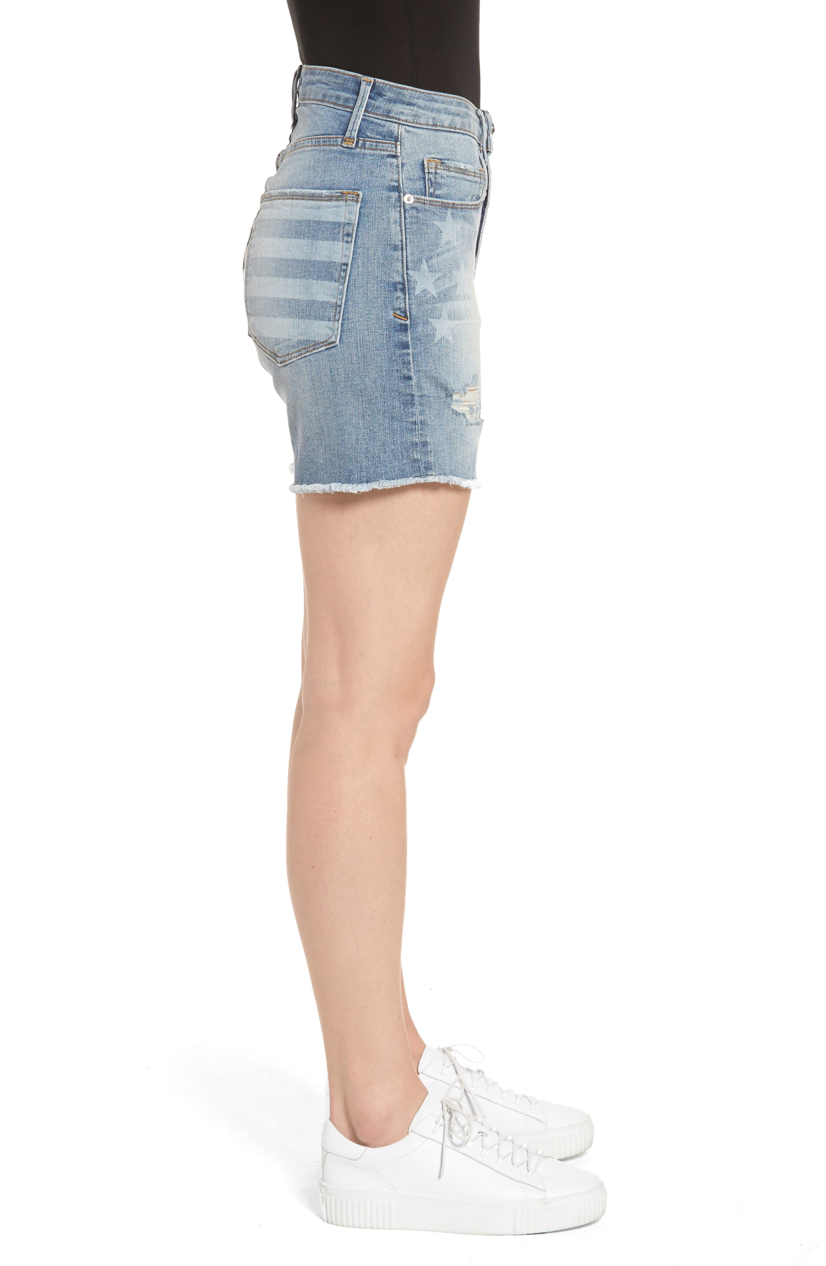 Alternate Image 3  - Good American High Waist Denim Cutoff Shorts (Extended Sizes)