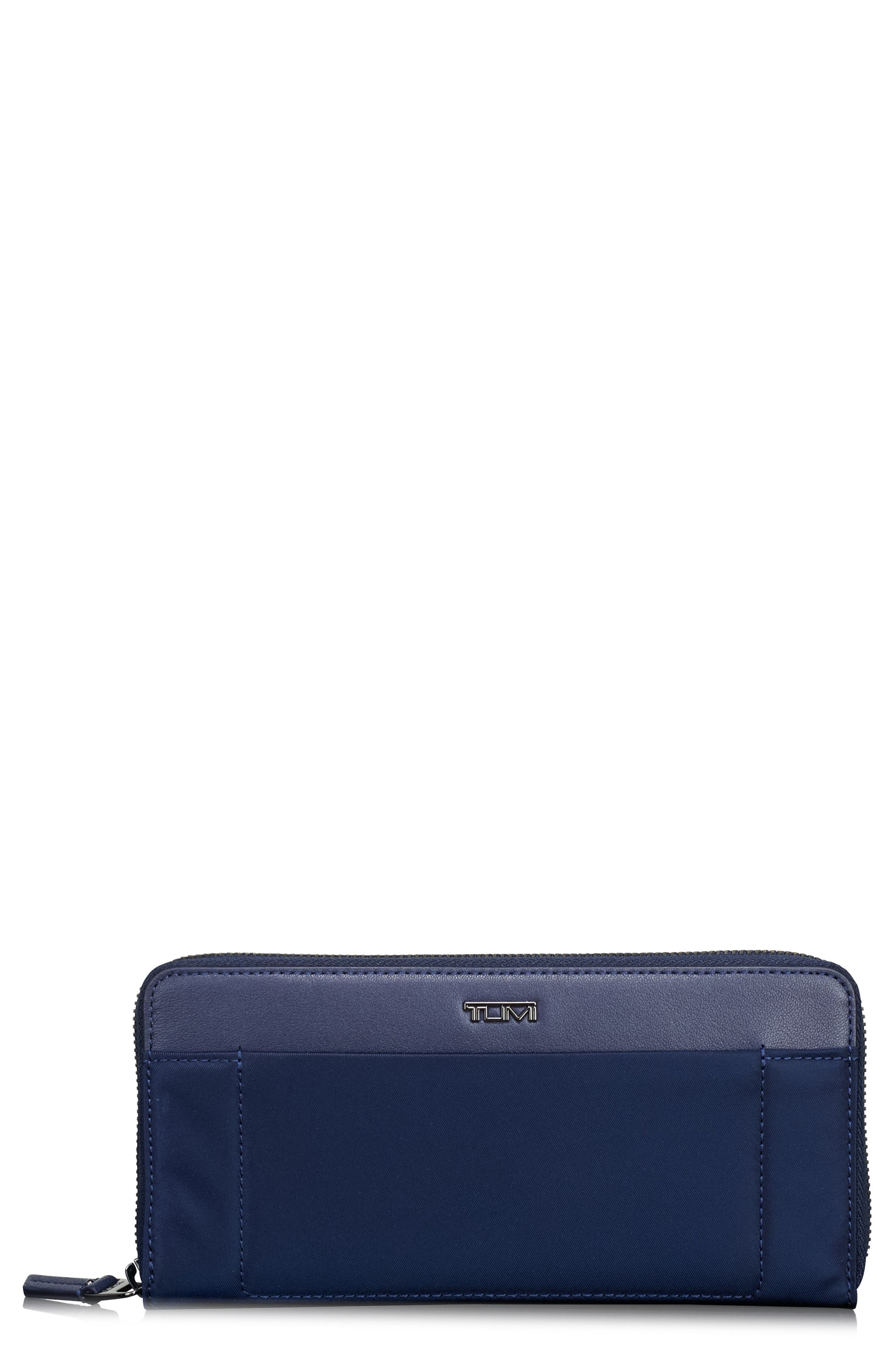 Continental Zip Tech Wallet,                         Main,                         color, Marine
