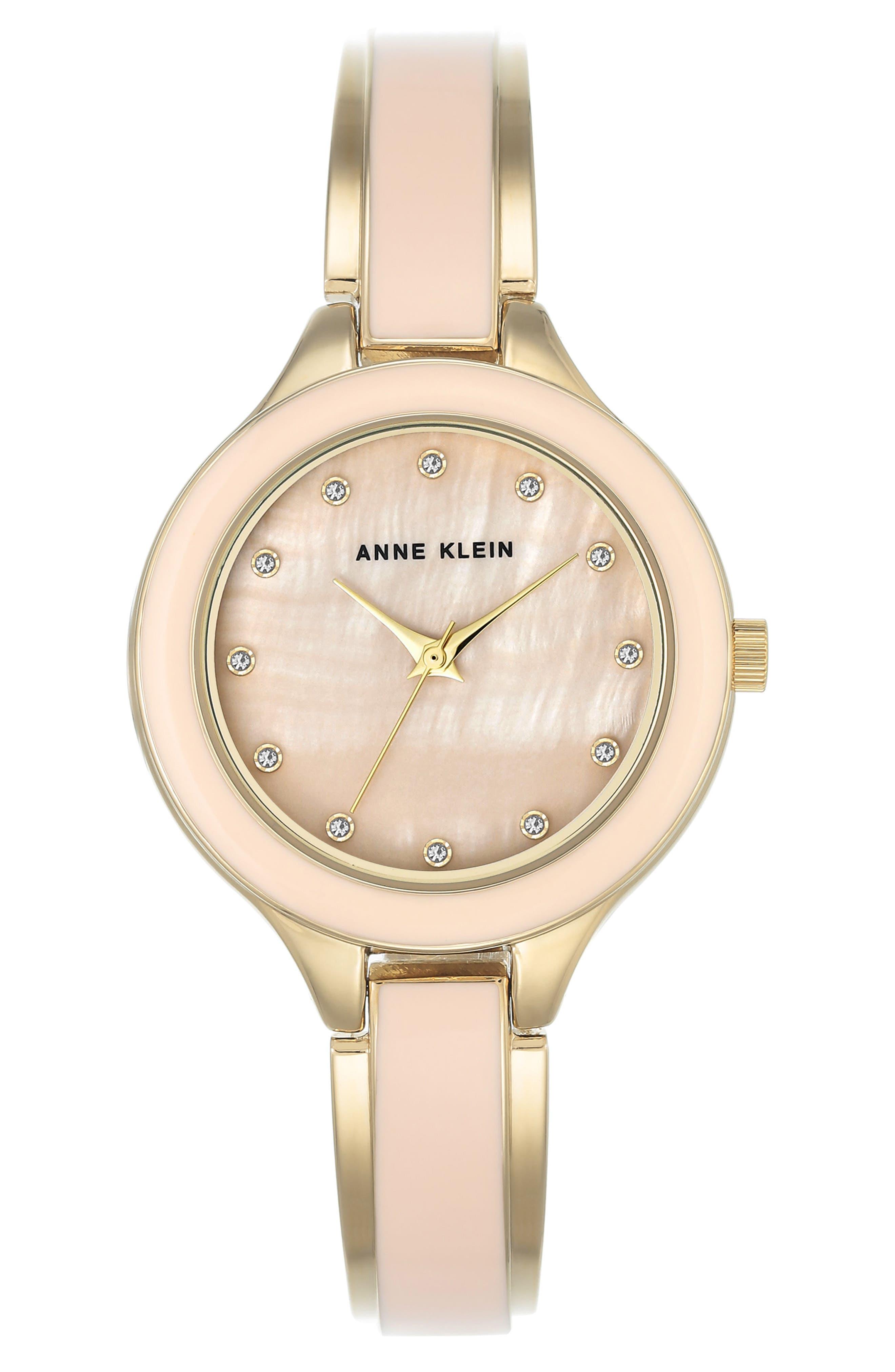 Enamel Bangle Watch, 32mm,                         Main,                         color, Blush/ Gold