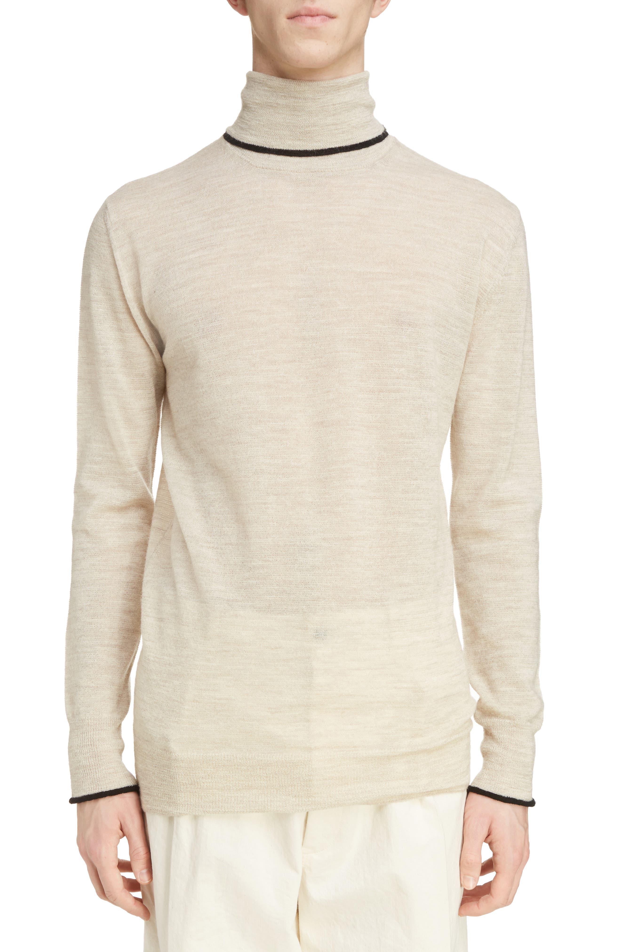Main Image - Lanvin Contrast Tipped Wool Turtleneck