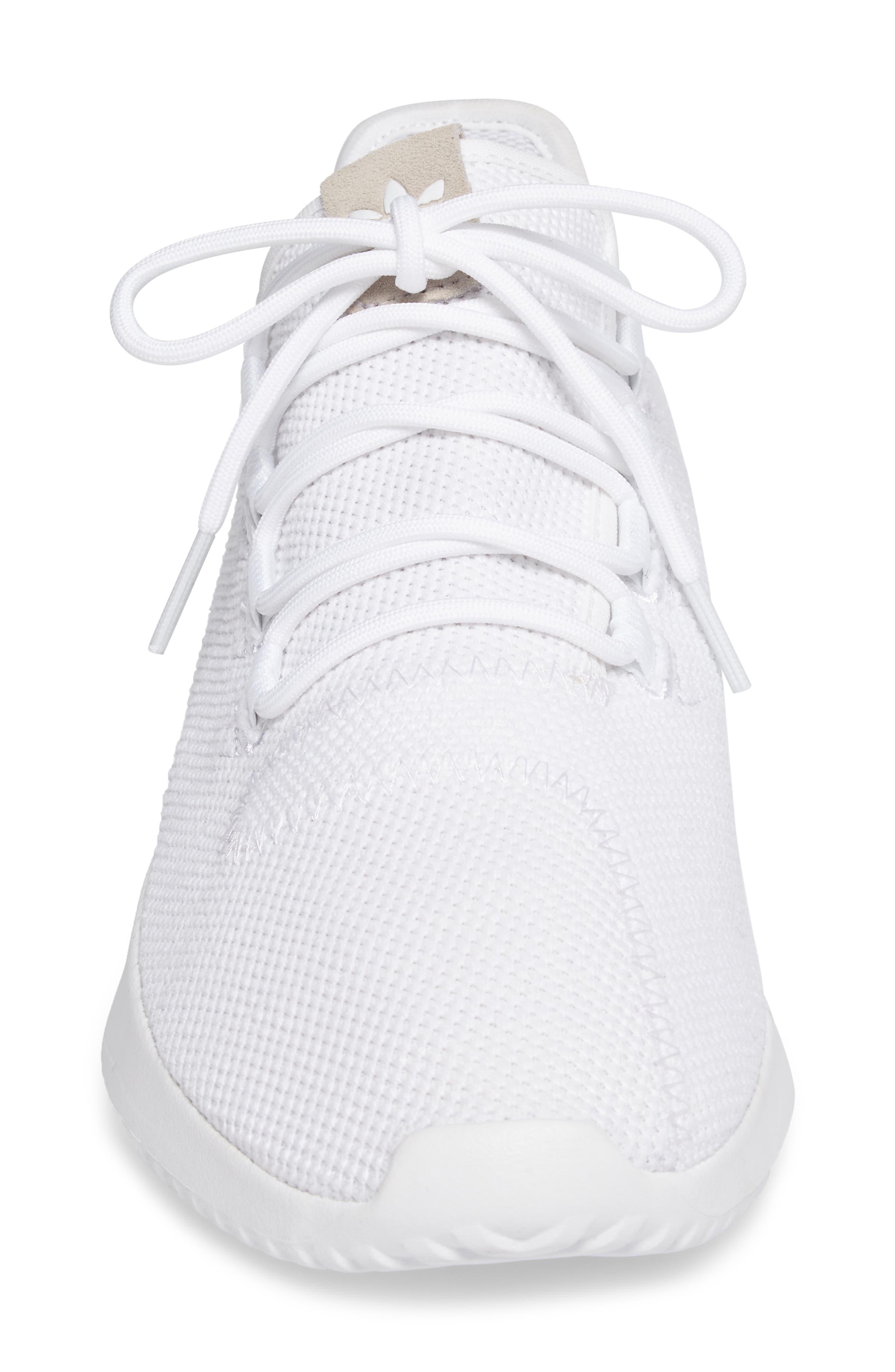 Tubular Shadow Sneaker,                             Alternate thumbnail 4, color,                             White/ Core Black/ White