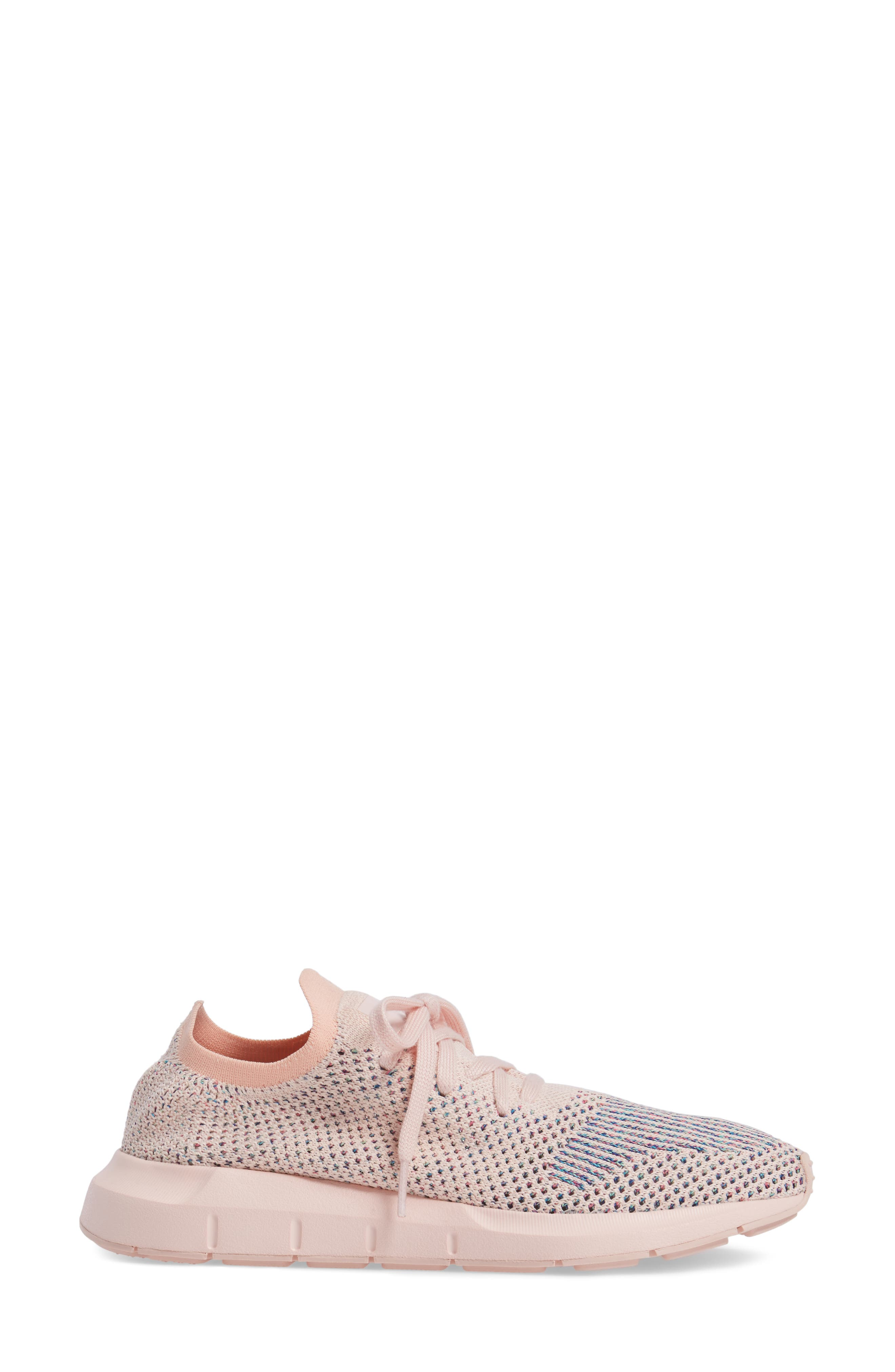 Swift Run Primeknit Training Shoe,                             Alternate thumbnail 3, color,                             Icey Pink/ Icey Pink