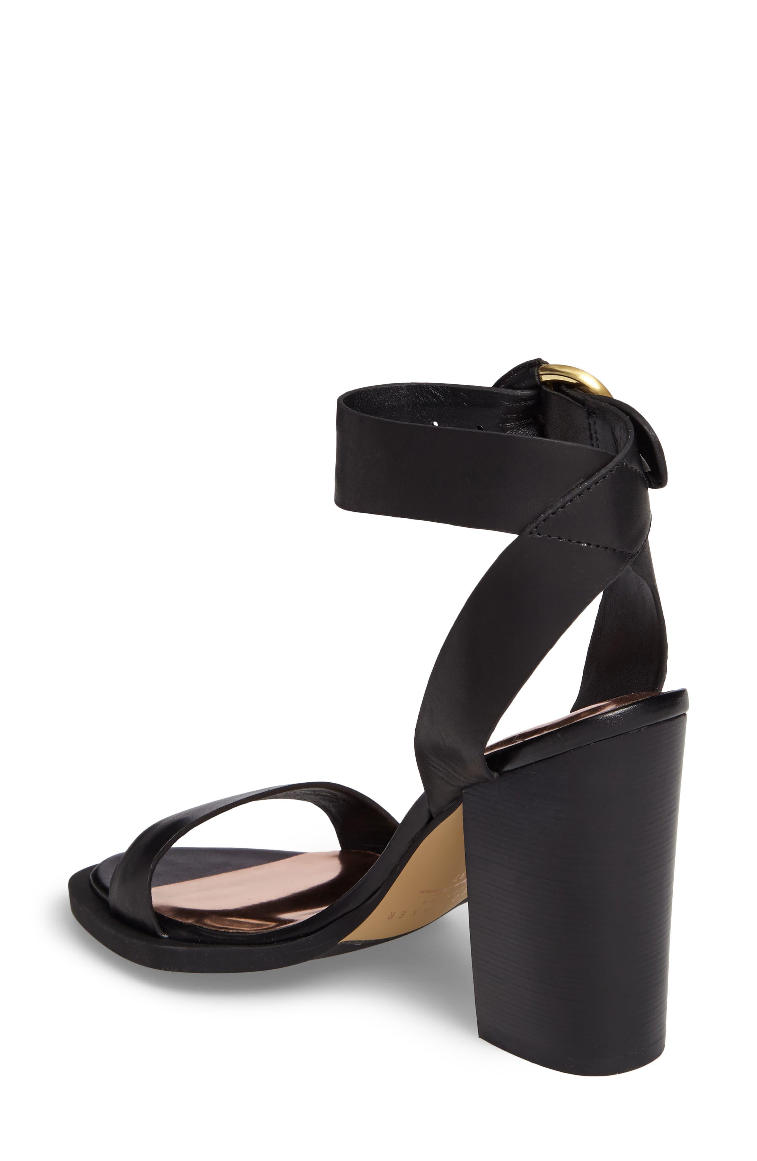 Betciy Ankle Strap Sandal,                             Alternate thumbnail 2, color,                             Black Leather