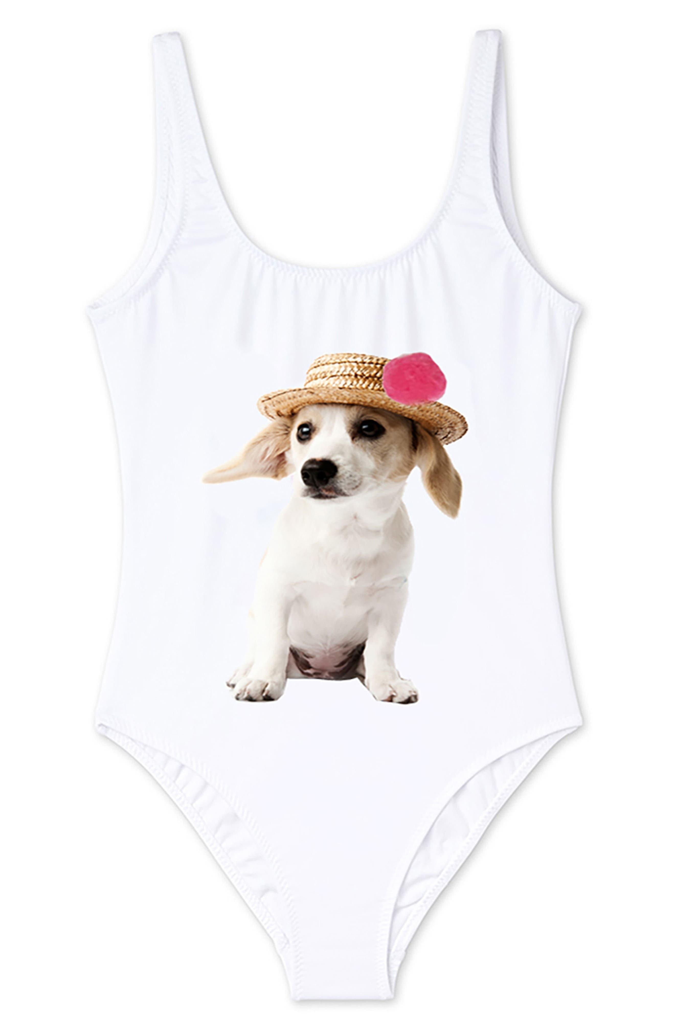 Stella Cove Puppy One-Piece Swimsuit (Toddler Girls, Little Girls & Big Girls)