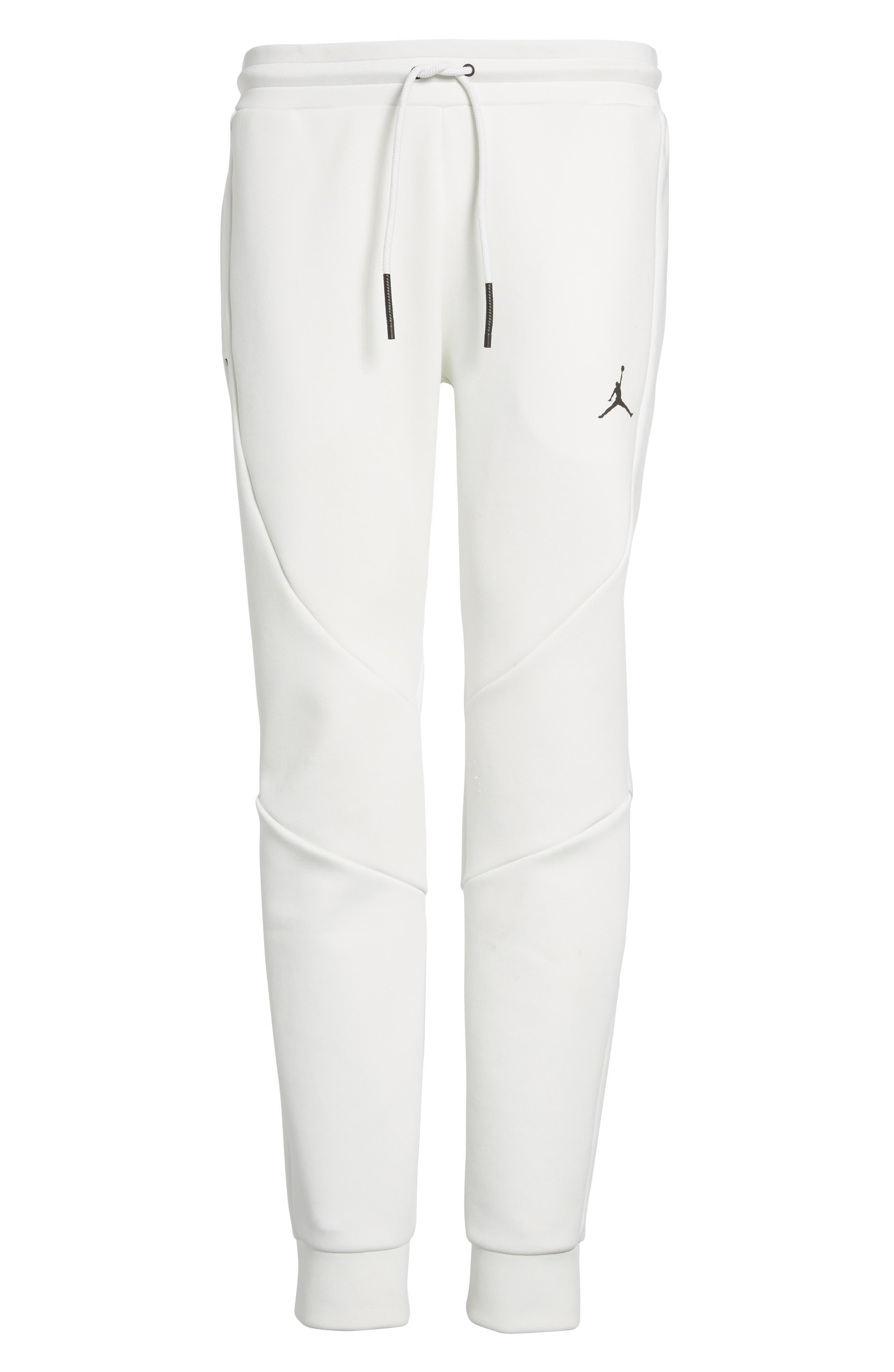 Sportswear Flight Tech Pants,                             Alternate thumbnail 6, color,                             Summit White/ Black