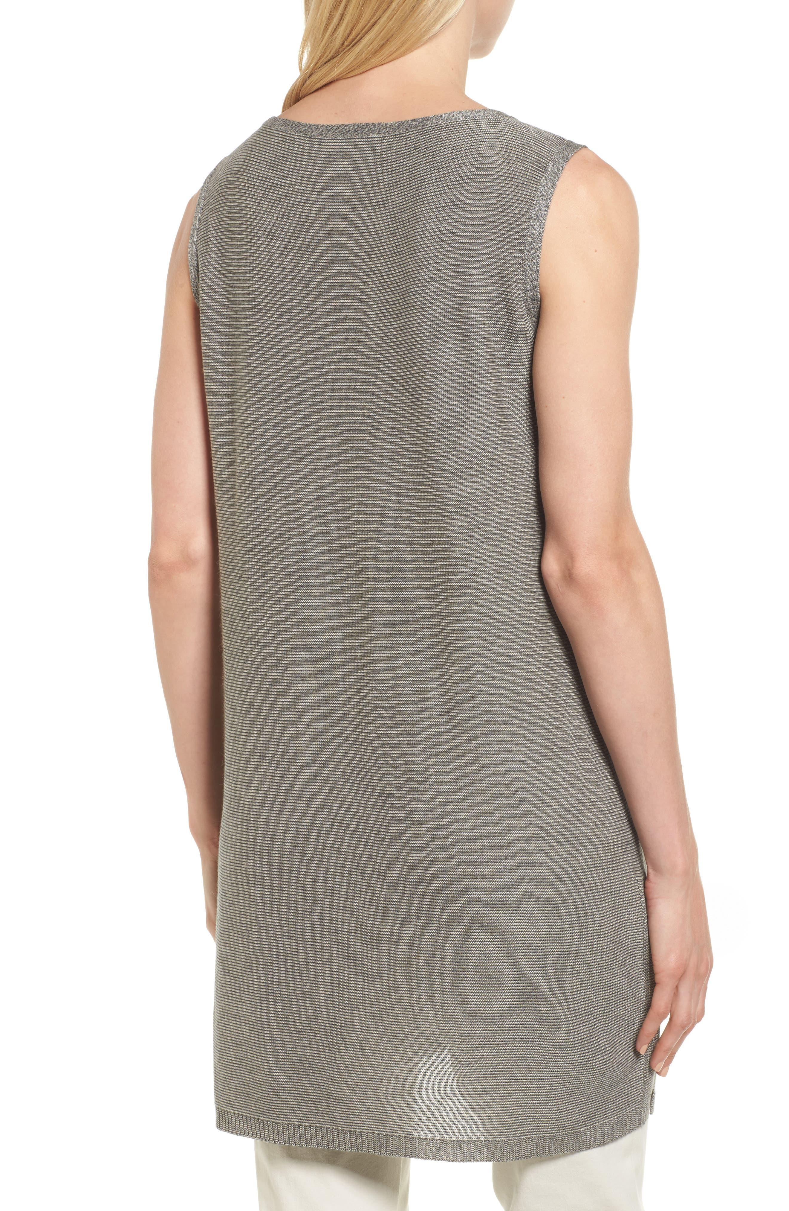 Alternate Image 2  - Eileen Fisher Tencel® & Merino Wool Tunic (Regular & Petite)