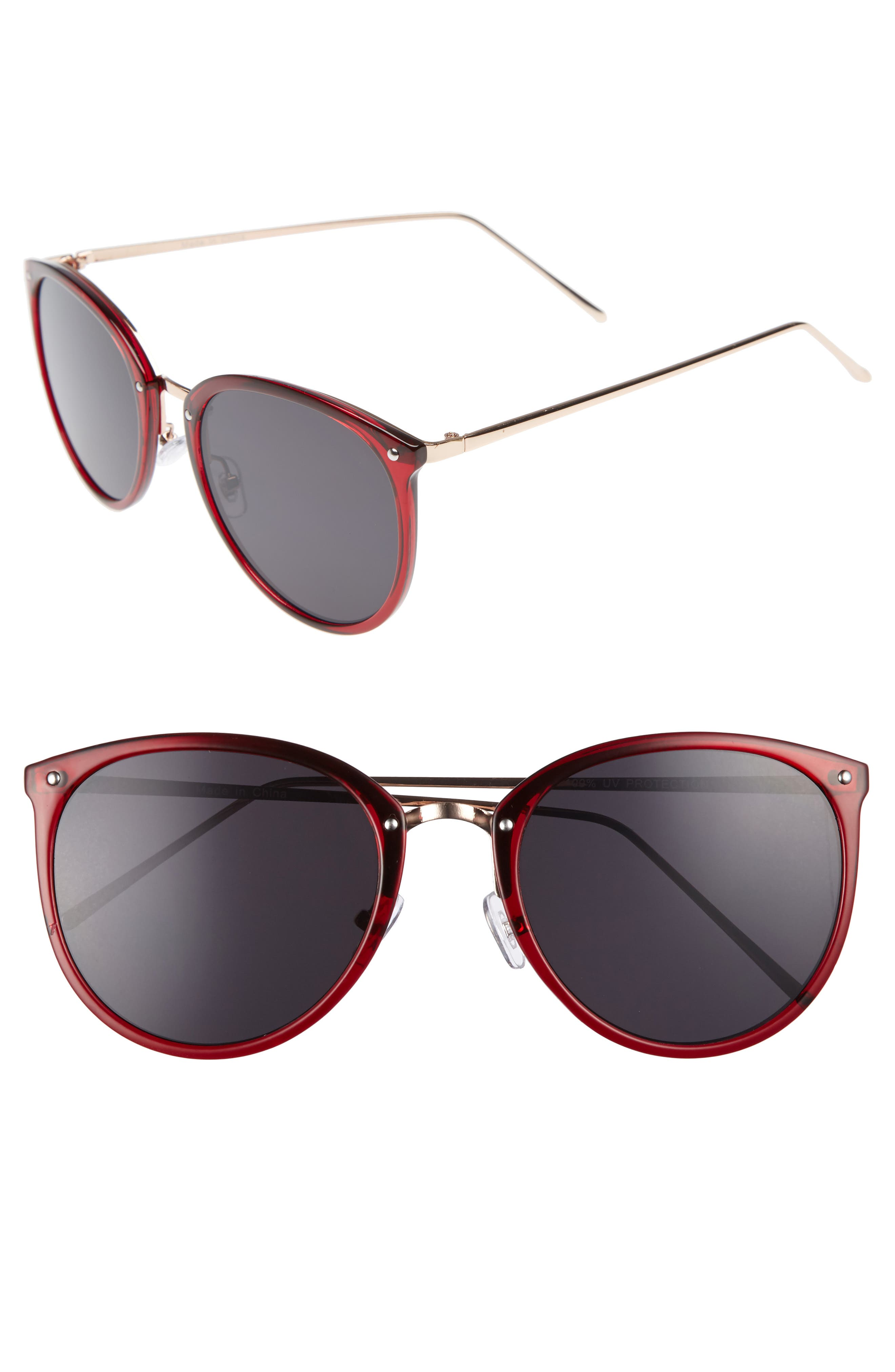 BP. Leith 55mm Round Sunglasses