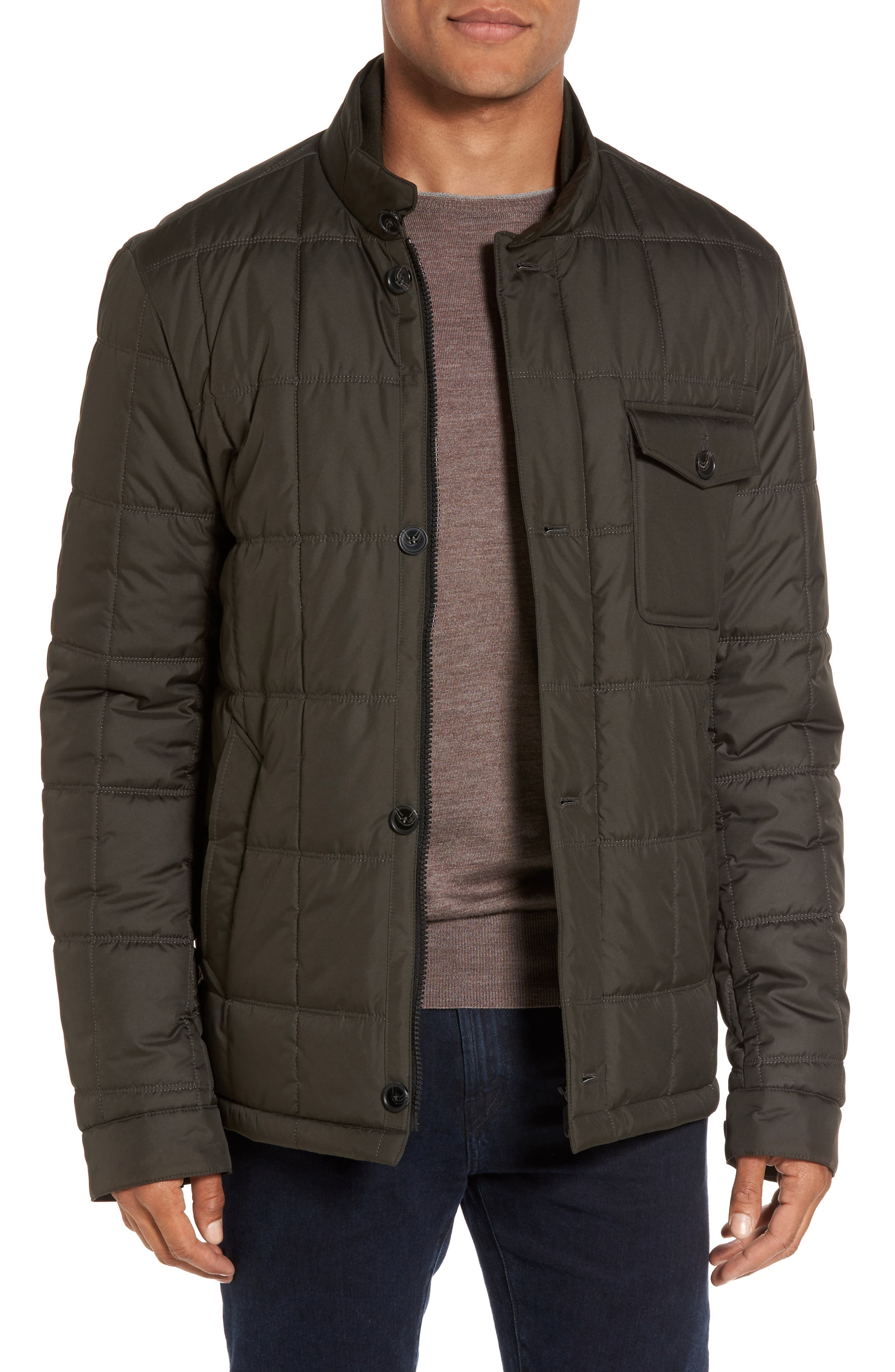 Tumi Regular Fit Quilted Jacket