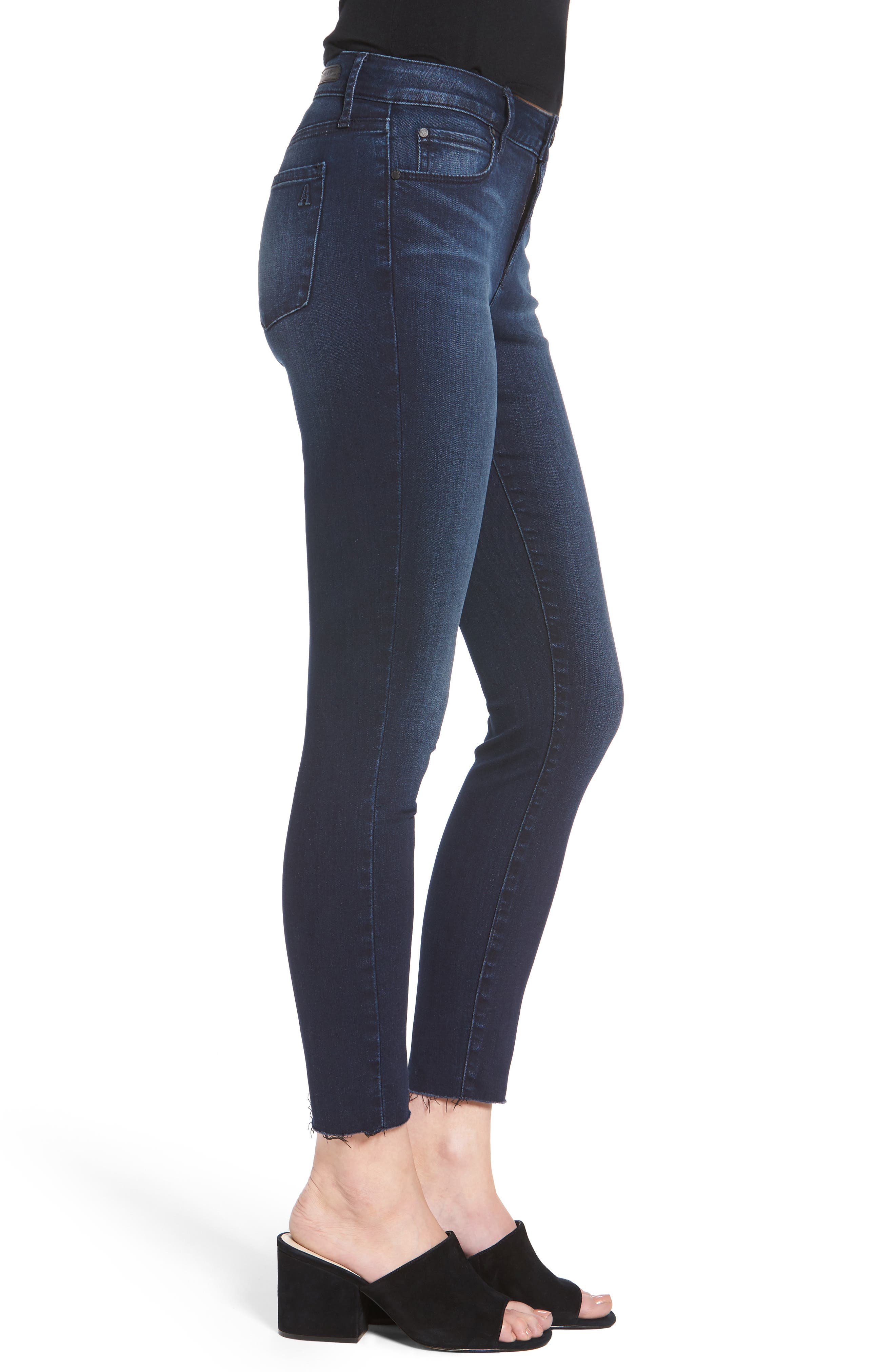 Carly Crop Skinny Jeans,                             Alternate thumbnail 3, color,                             Brooks