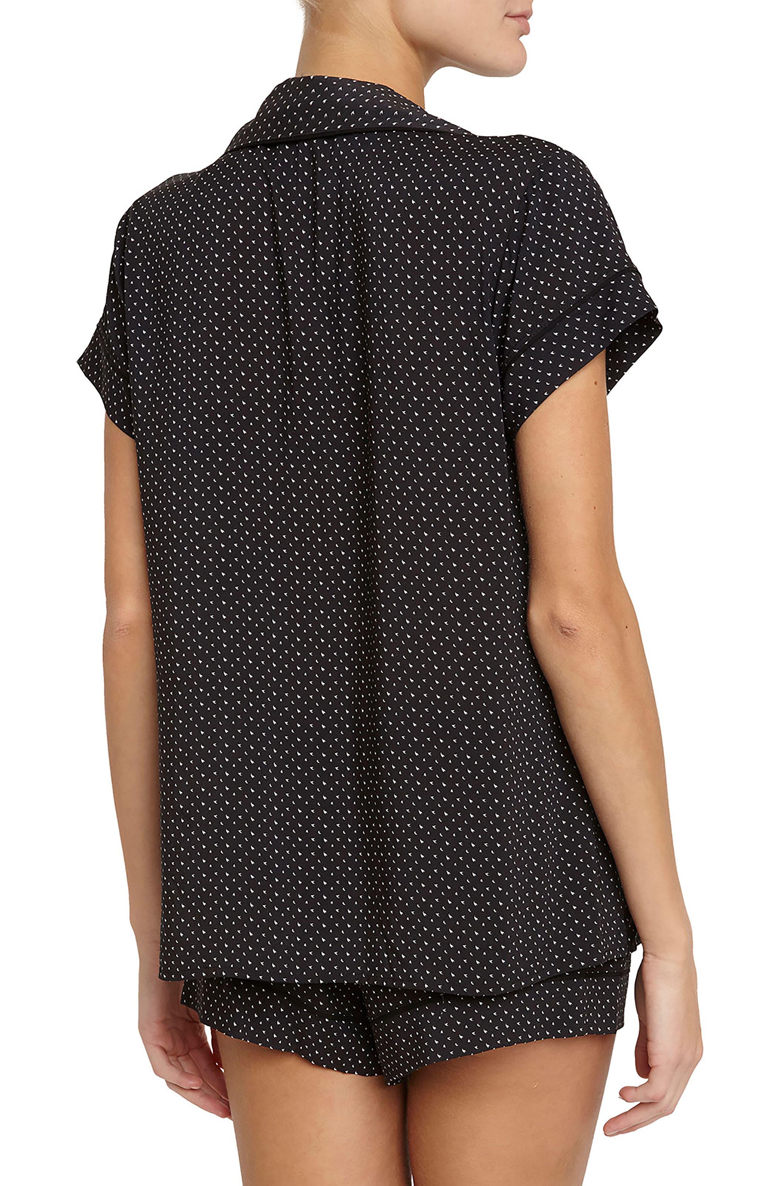 Victoria Short Pajamas,                             Alternate thumbnail 2, color,                             Wish/ Black