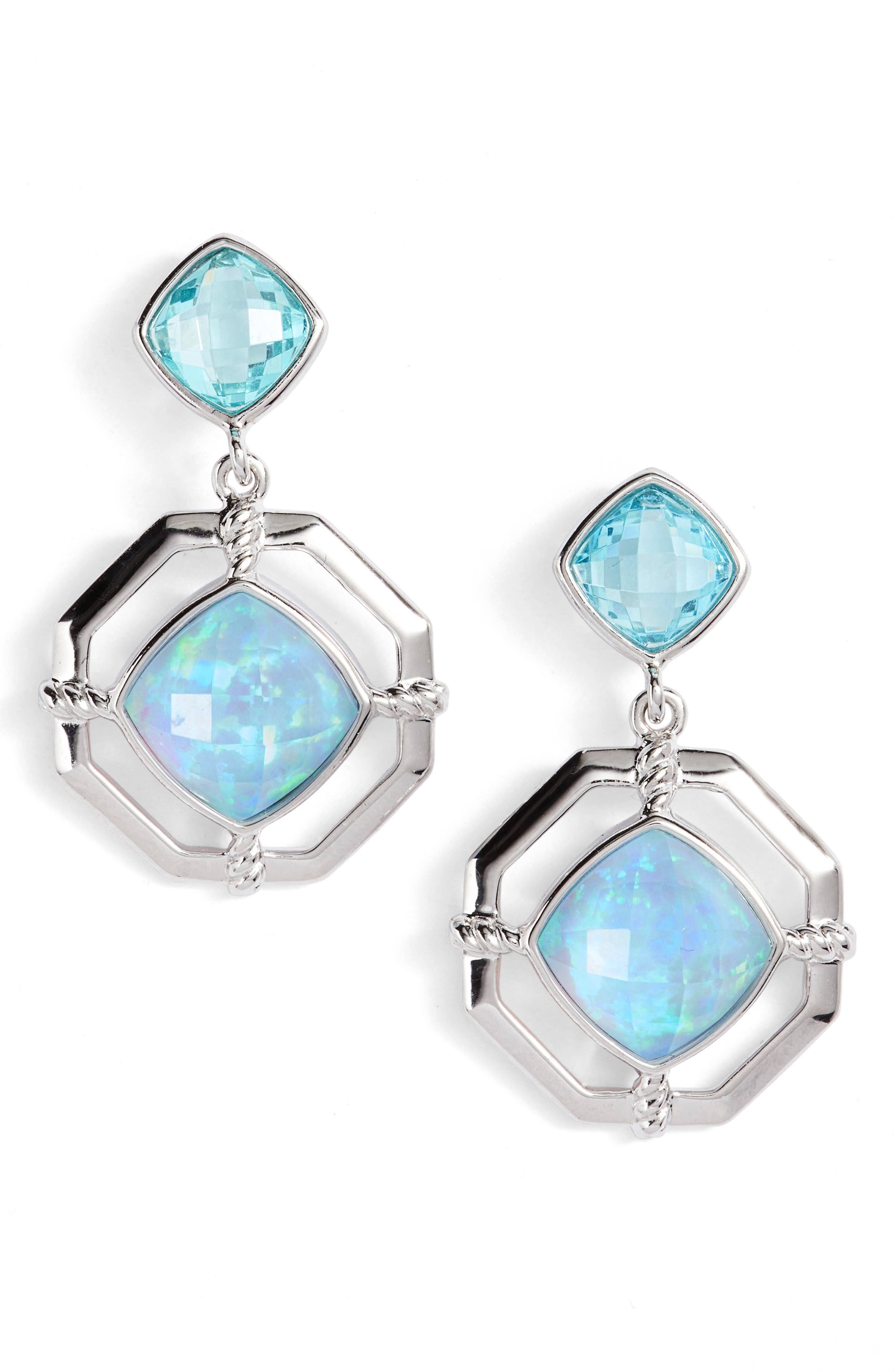 JUDITH JACK Paradise Double Drop Earrings