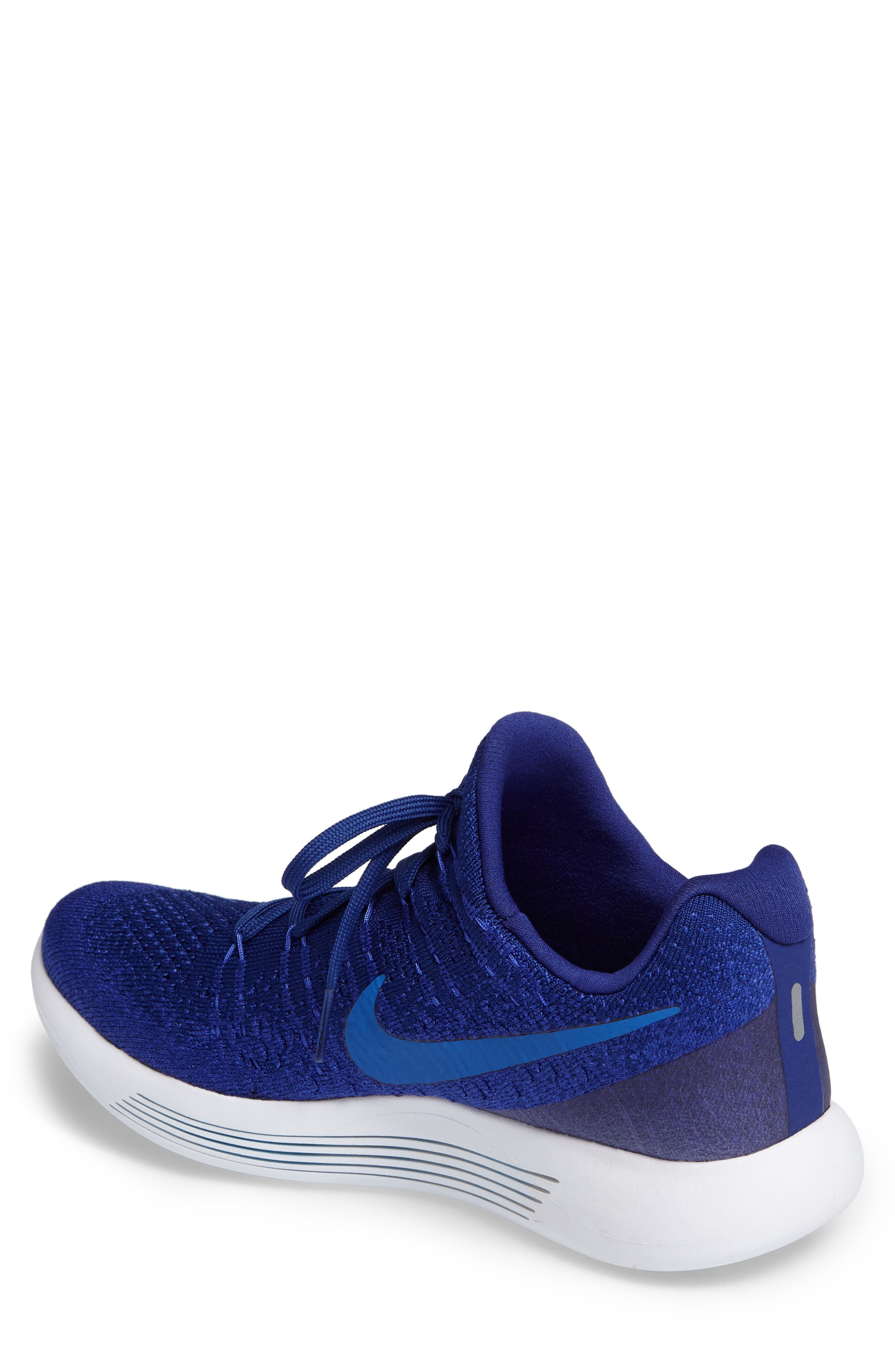 Flyknit 2 LunarEpic Running Shoe,                             Alternate thumbnail 2, color,                             Royal Blue/ Blue