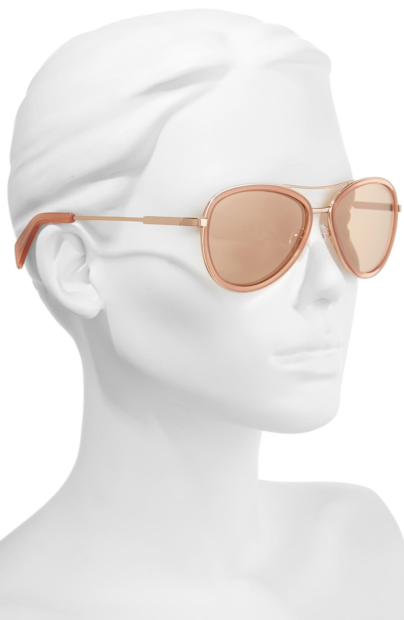 Alternate Image 2  - Draper James 58mm Aviator Sunglasses