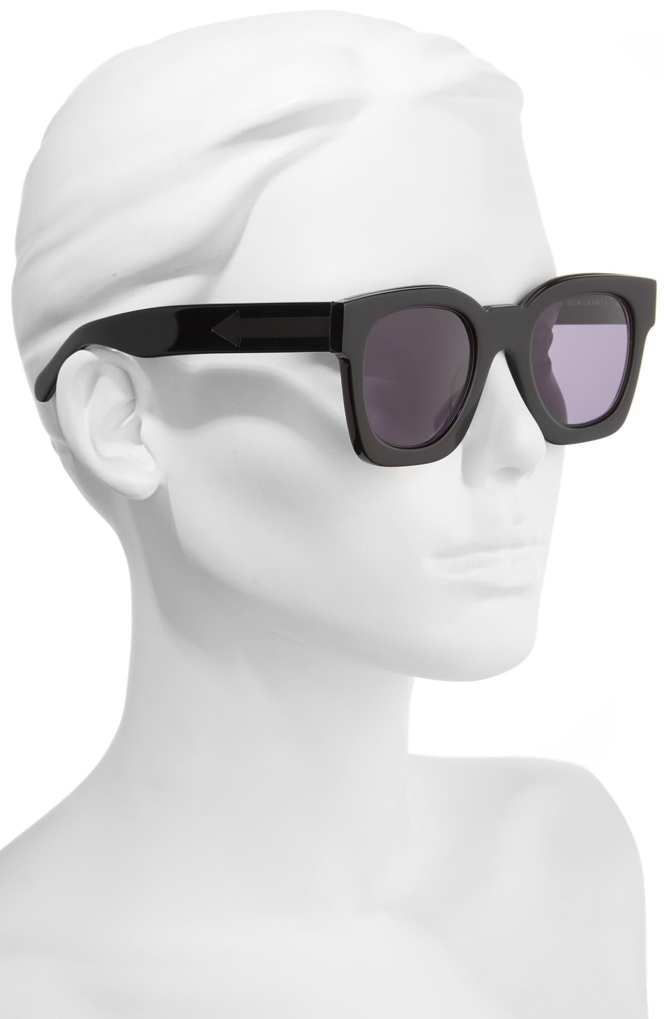 x Monumental Pablo 50mm Sunglasses,                             Alternate thumbnail 2, color,                             Black