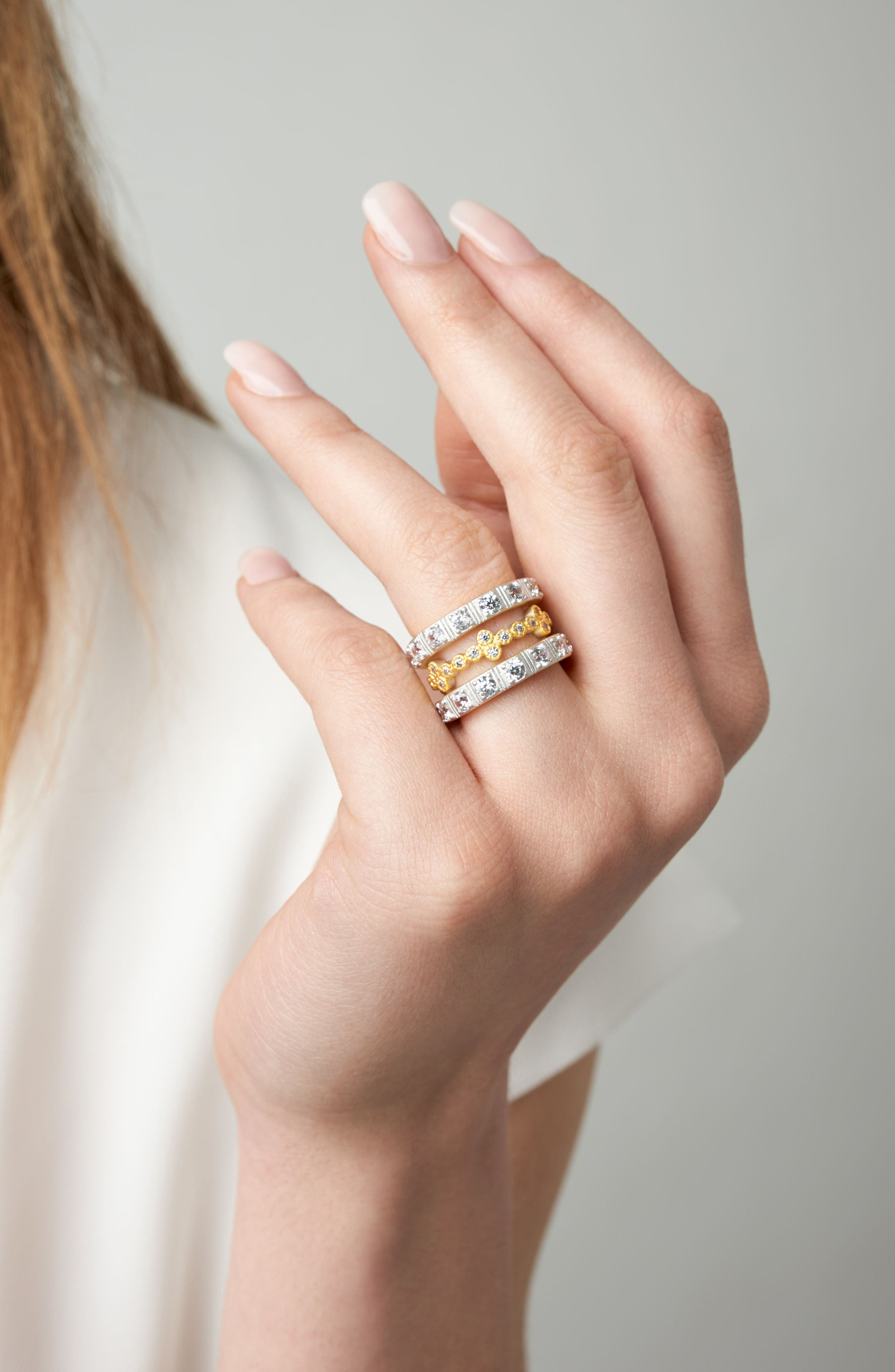 Set of Three Stacking Rings,                             Alternate thumbnail 3, color,                             Gold/ Silver