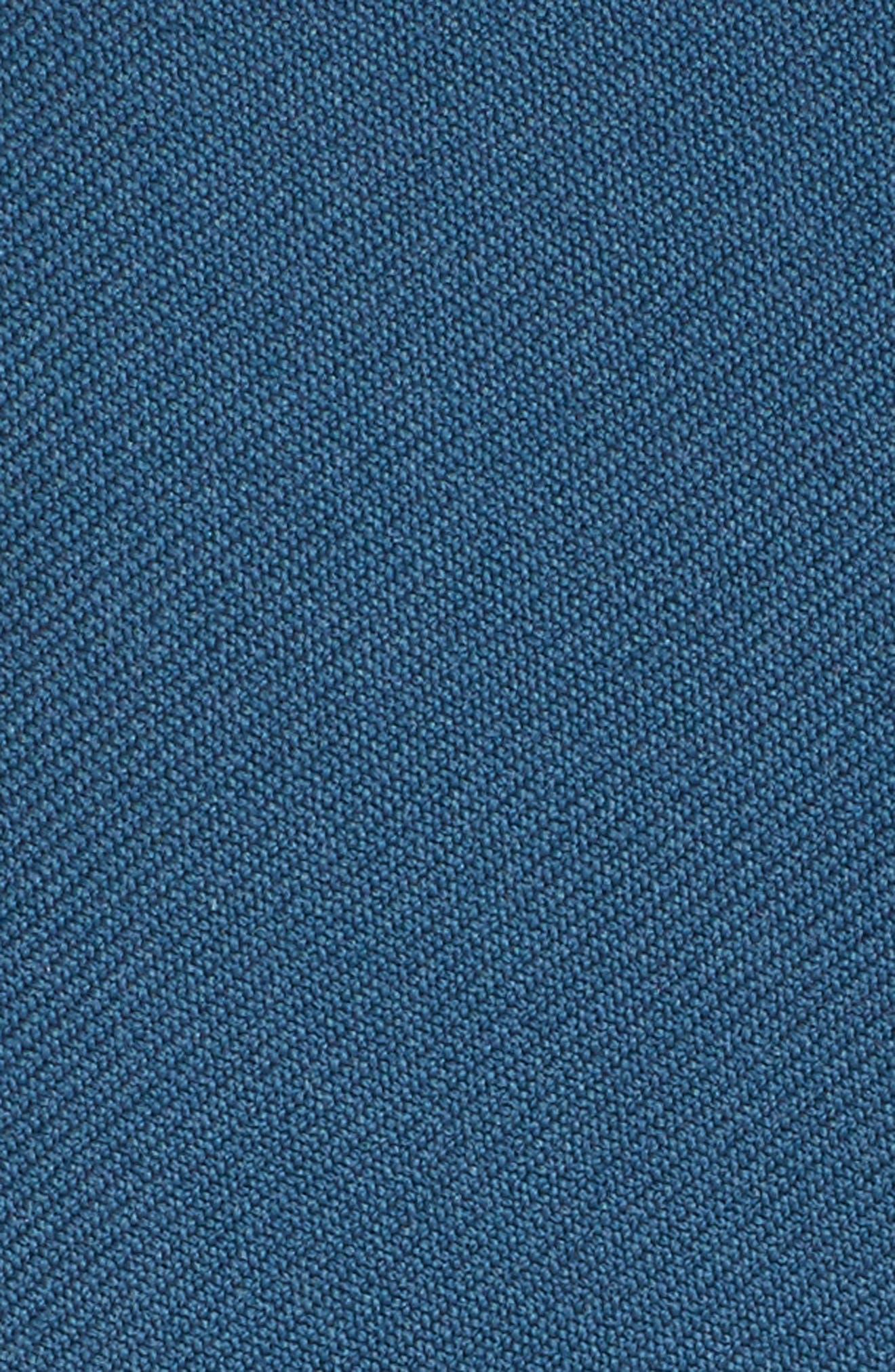 Tie Waist Crop Wool Pants,                             Alternate thumbnail 5, color,                             Deep Sea