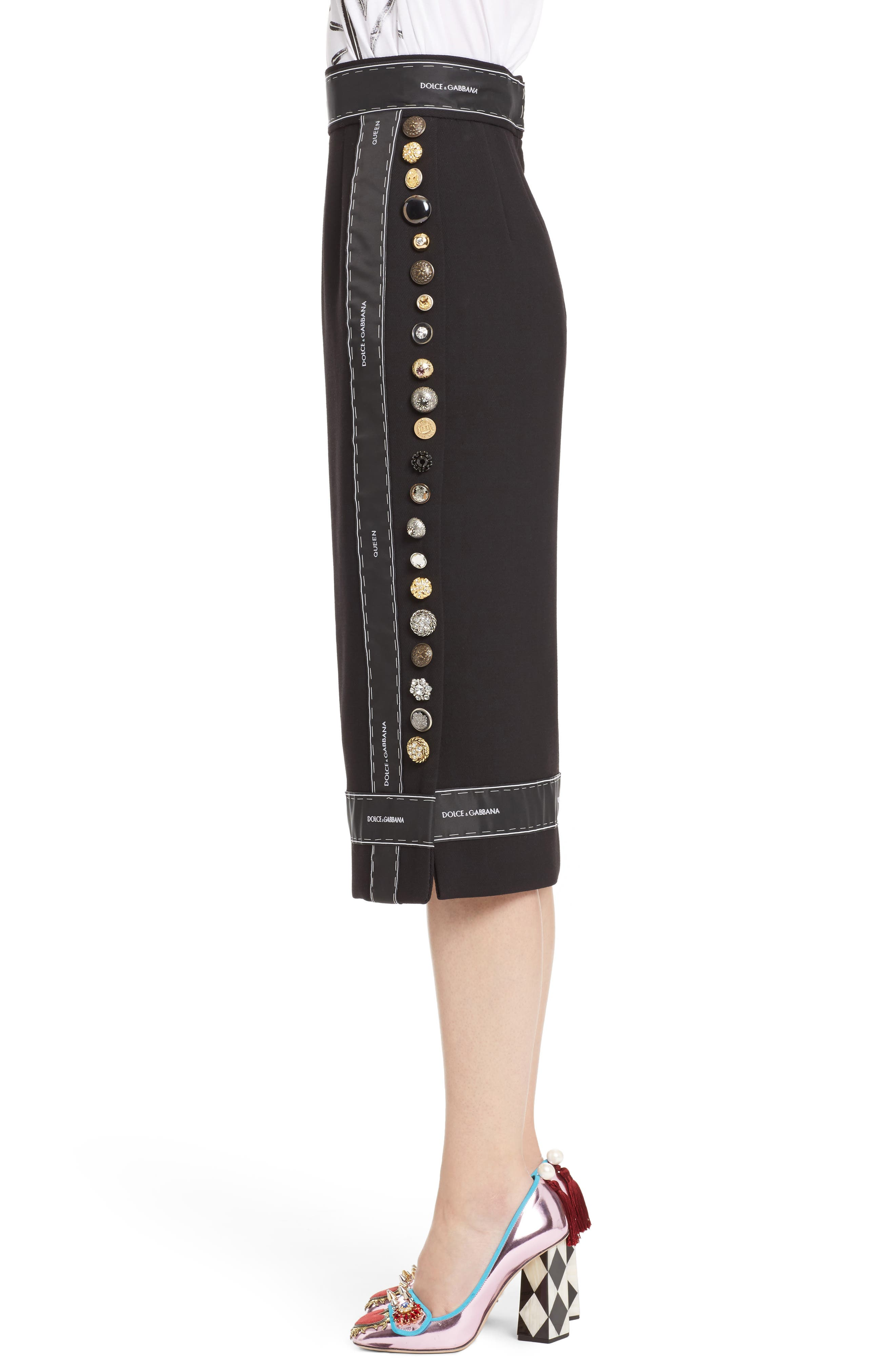 Alternate Image 4  - Dolce&Gabbana Ribbon Trim Pencil Skirt