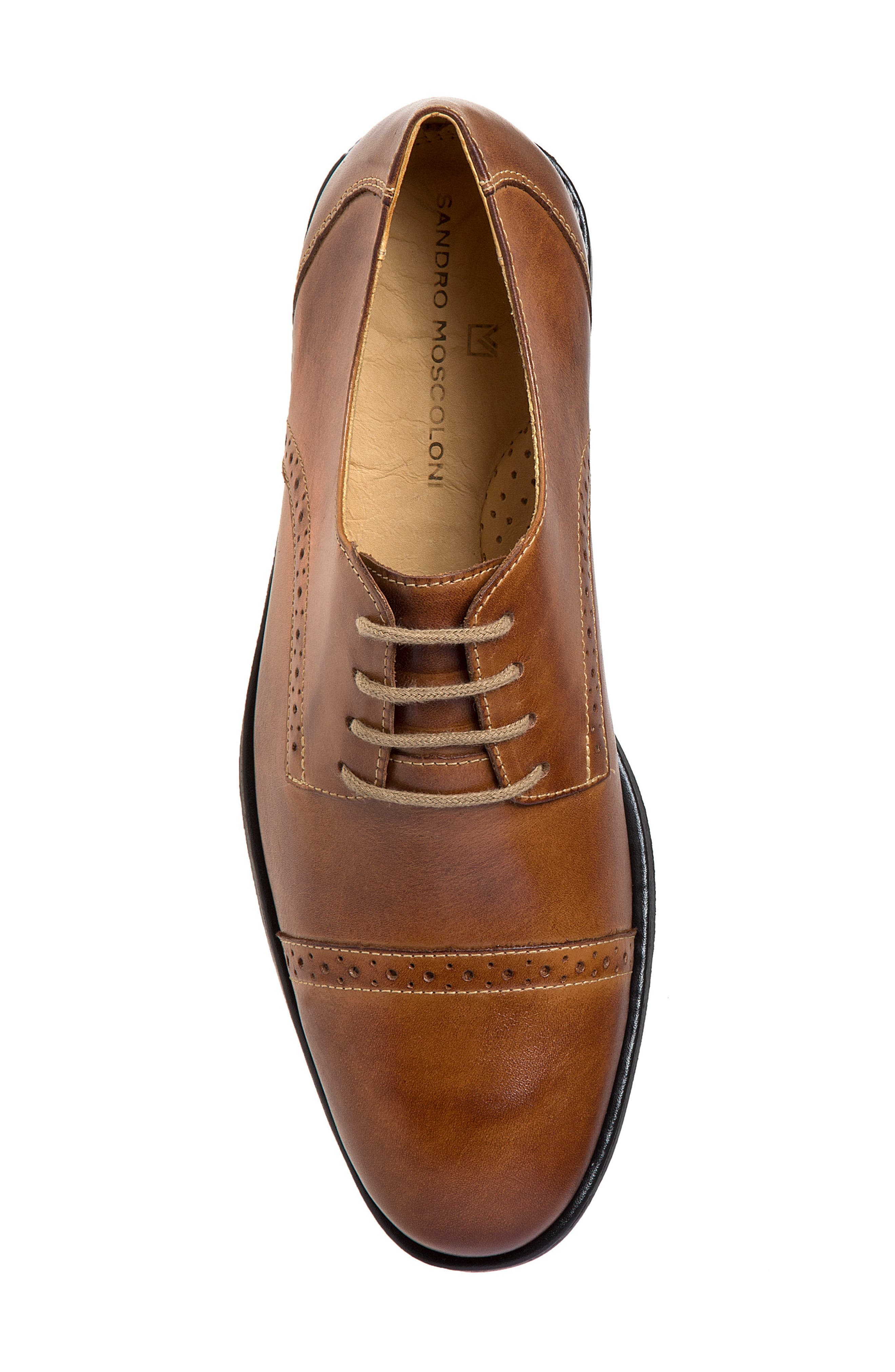 Elbert Cap Toe Derby,                             Alternate thumbnail 4, color,                             Tan