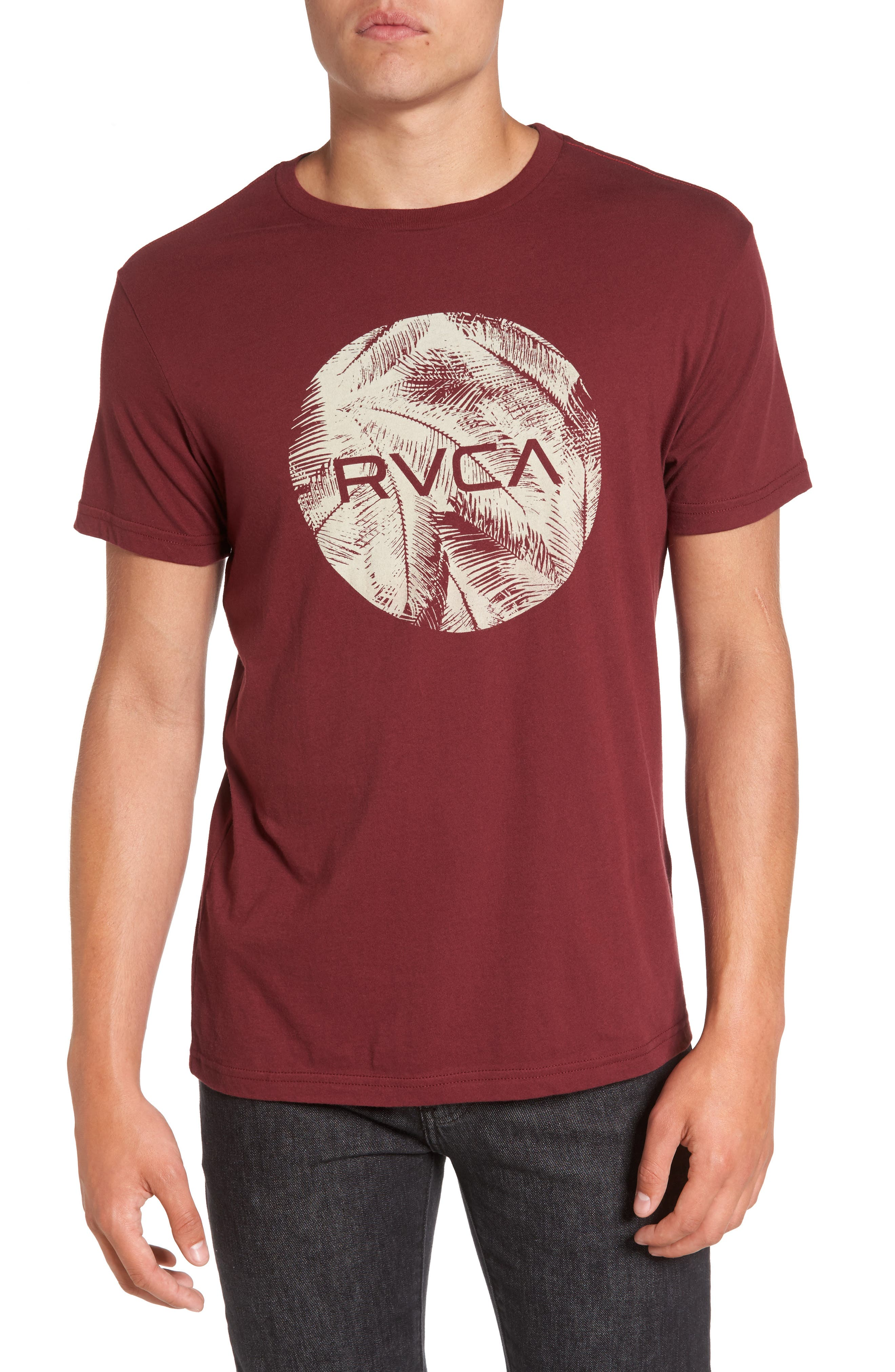 Motors Palm Graphic T-Shirt,                         Main,                         color, Tawny Port