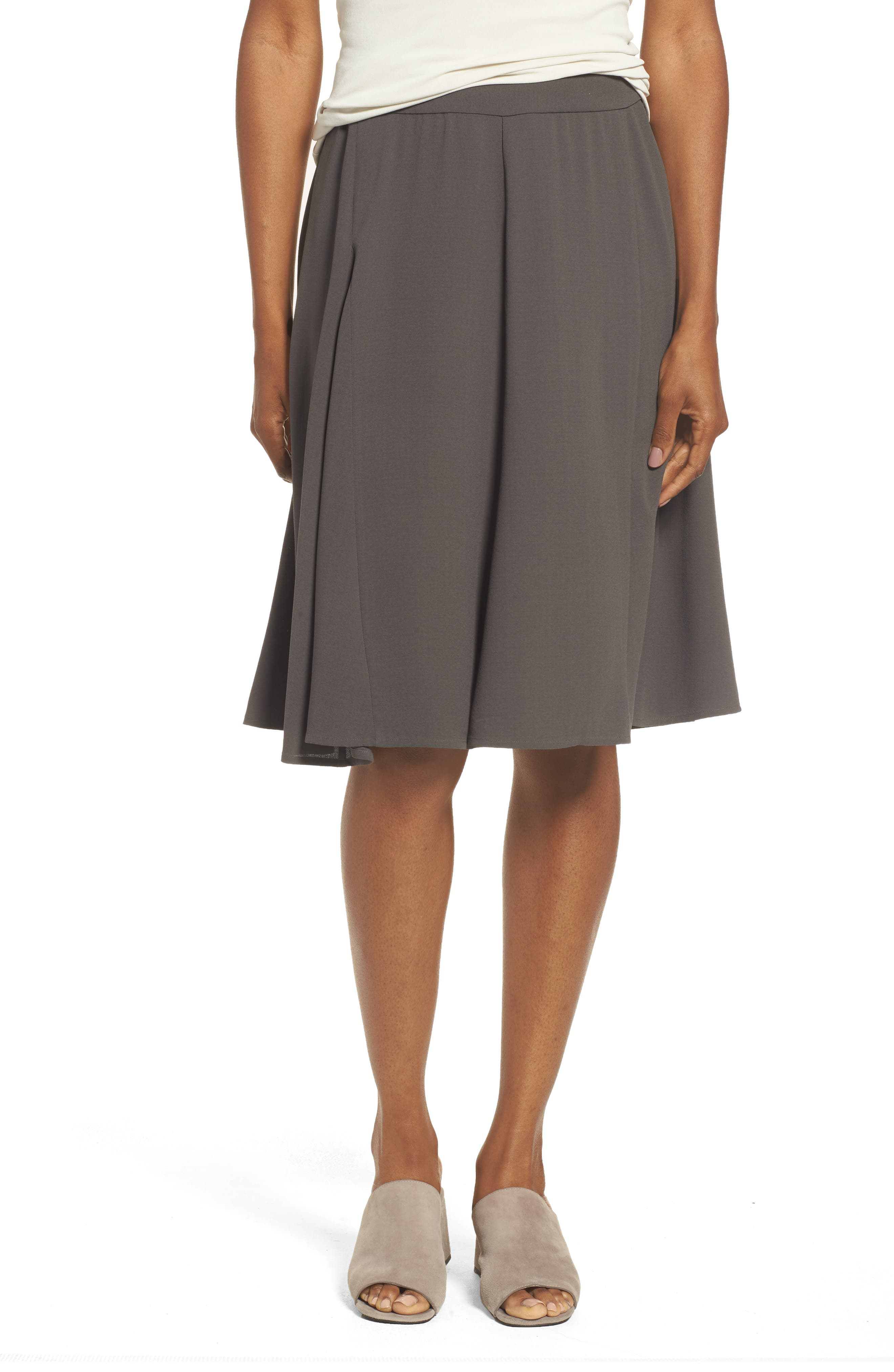 Eileen Fisher Gored Silk Skirt