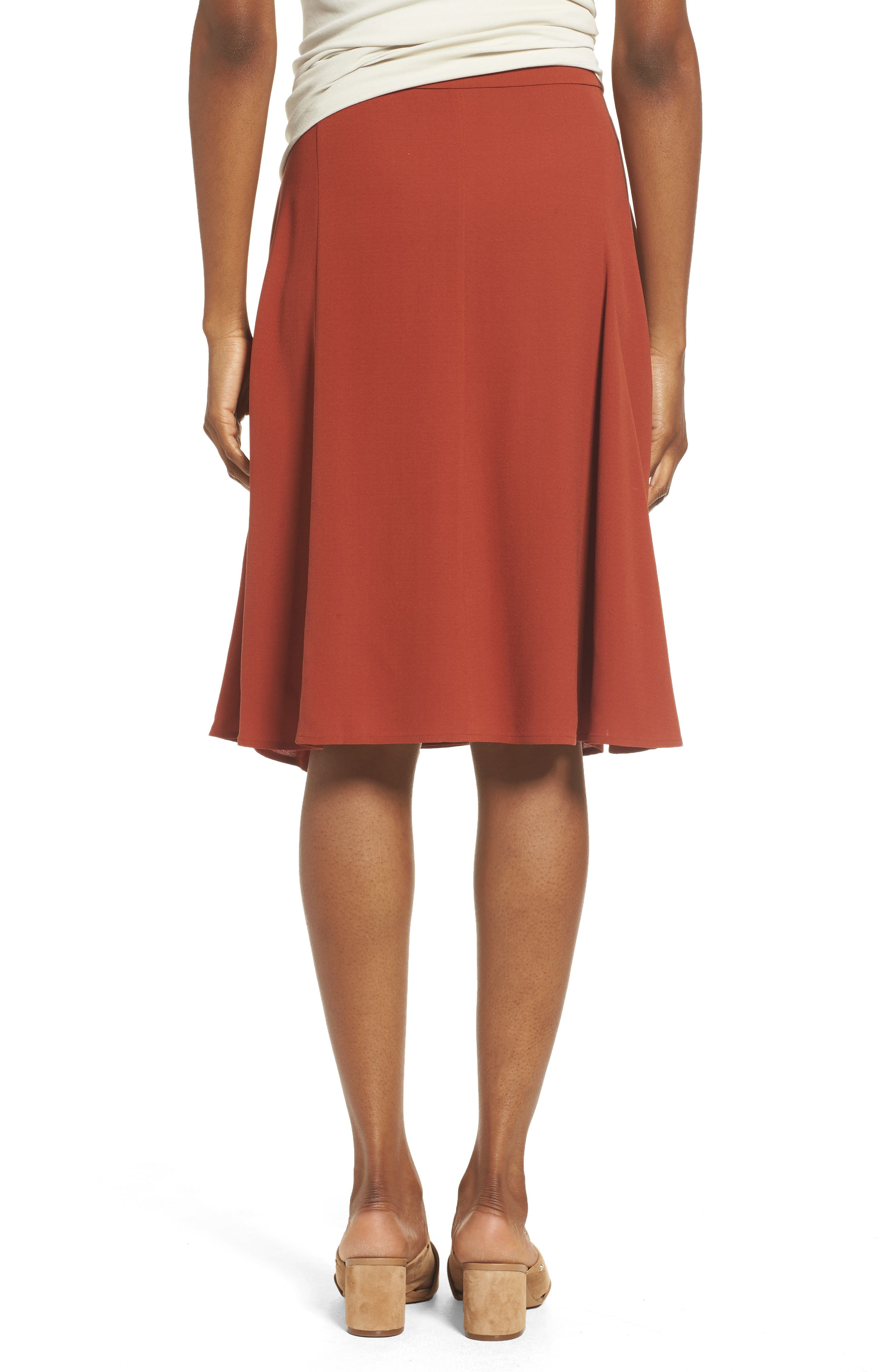 Alternate Image 2  - Eileen Fisher Gored Silk Skirt