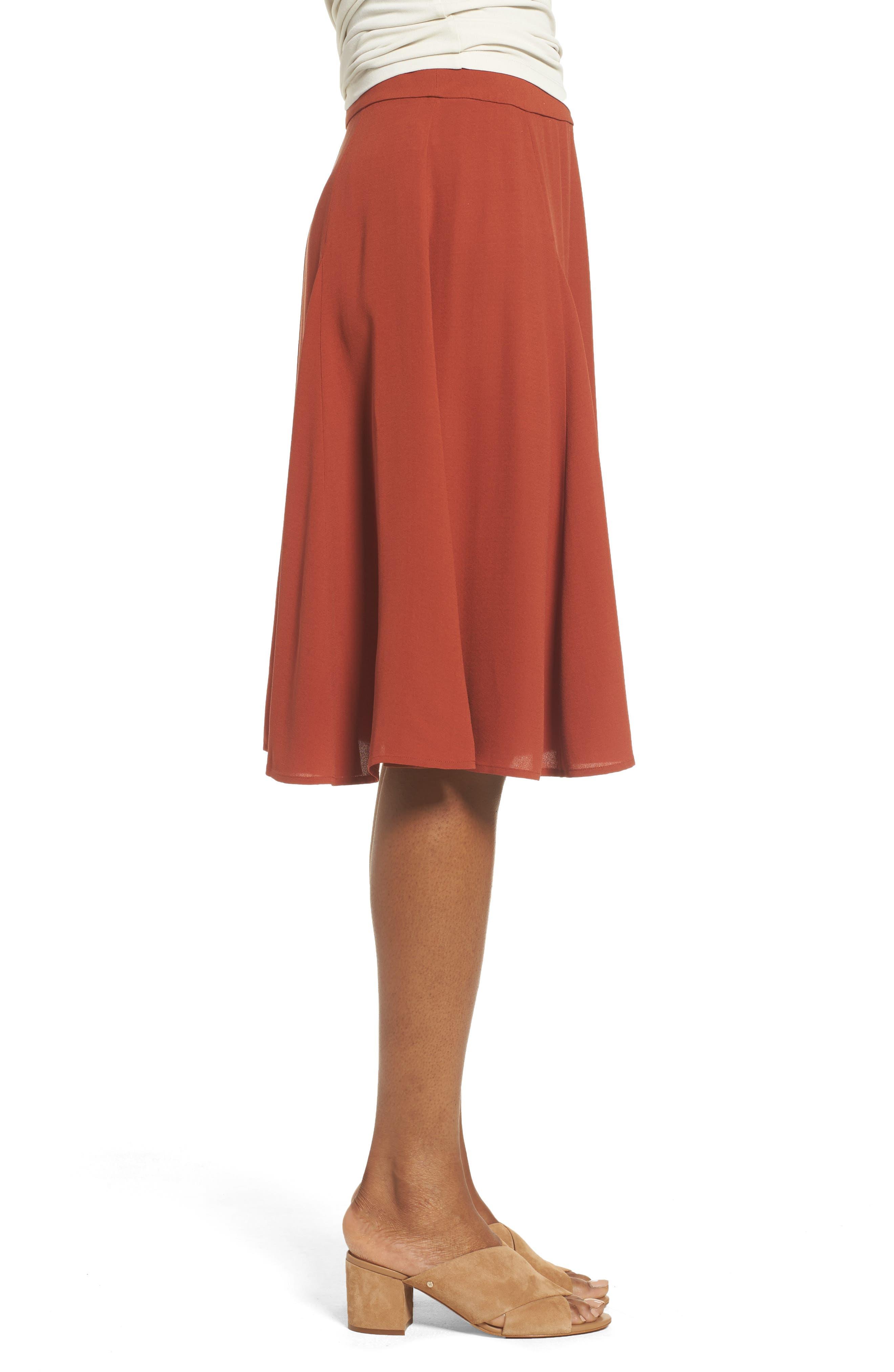 Alternate Image 3  - Eileen Fisher Gored Silk Skirt