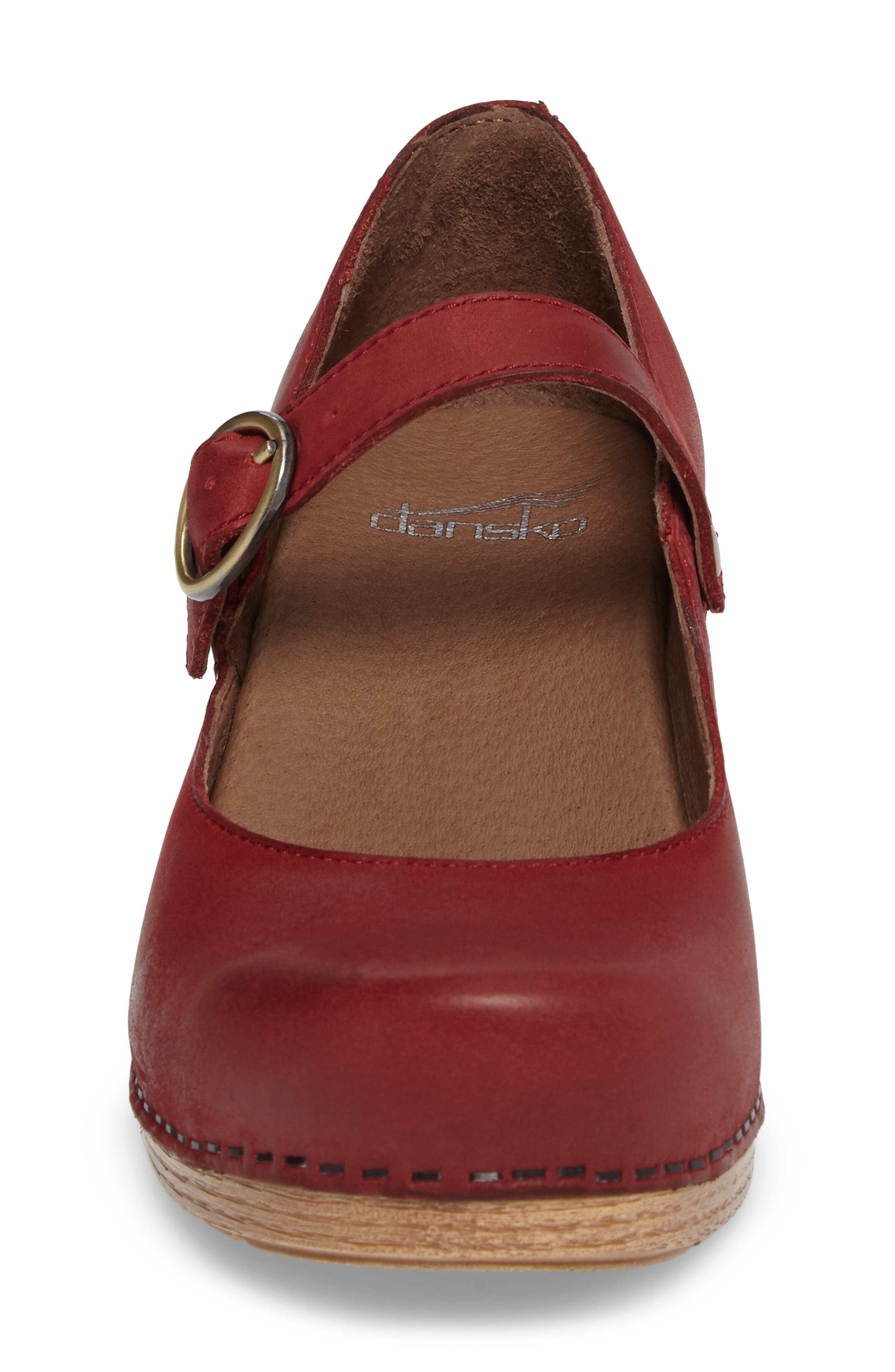 Missy Mary Jane Pump,                             Alternate thumbnail 4, color,                             Red Leather