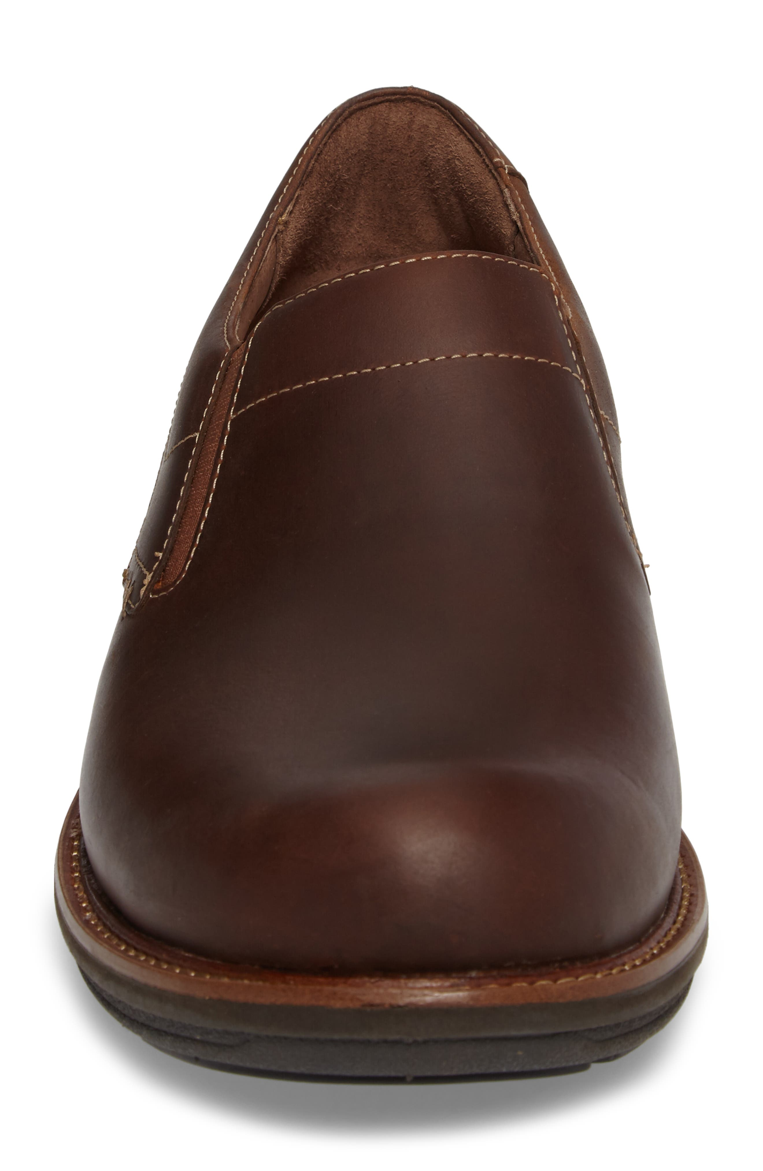 'Jackson' Leather Slip-On,                             Alternate thumbnail 5, color,                             Brown Pull-Up Leather