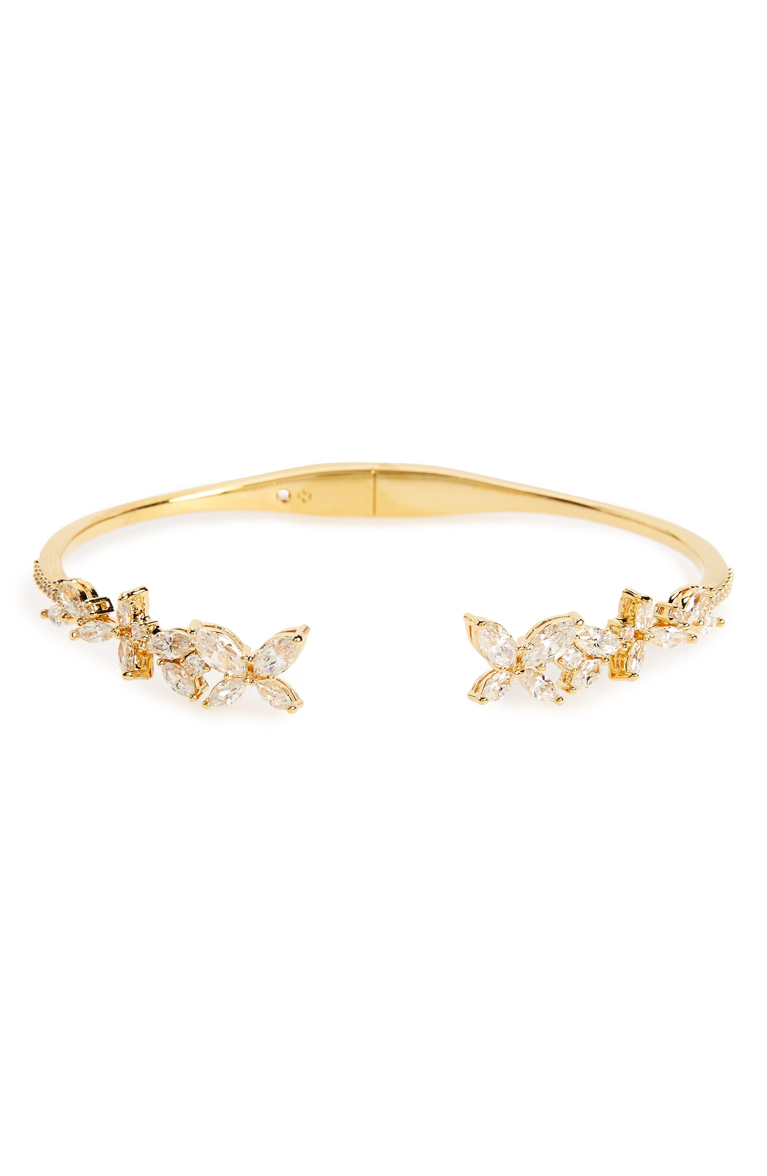 Papillon Hinge Bangle,                         Main,                         color, Gold