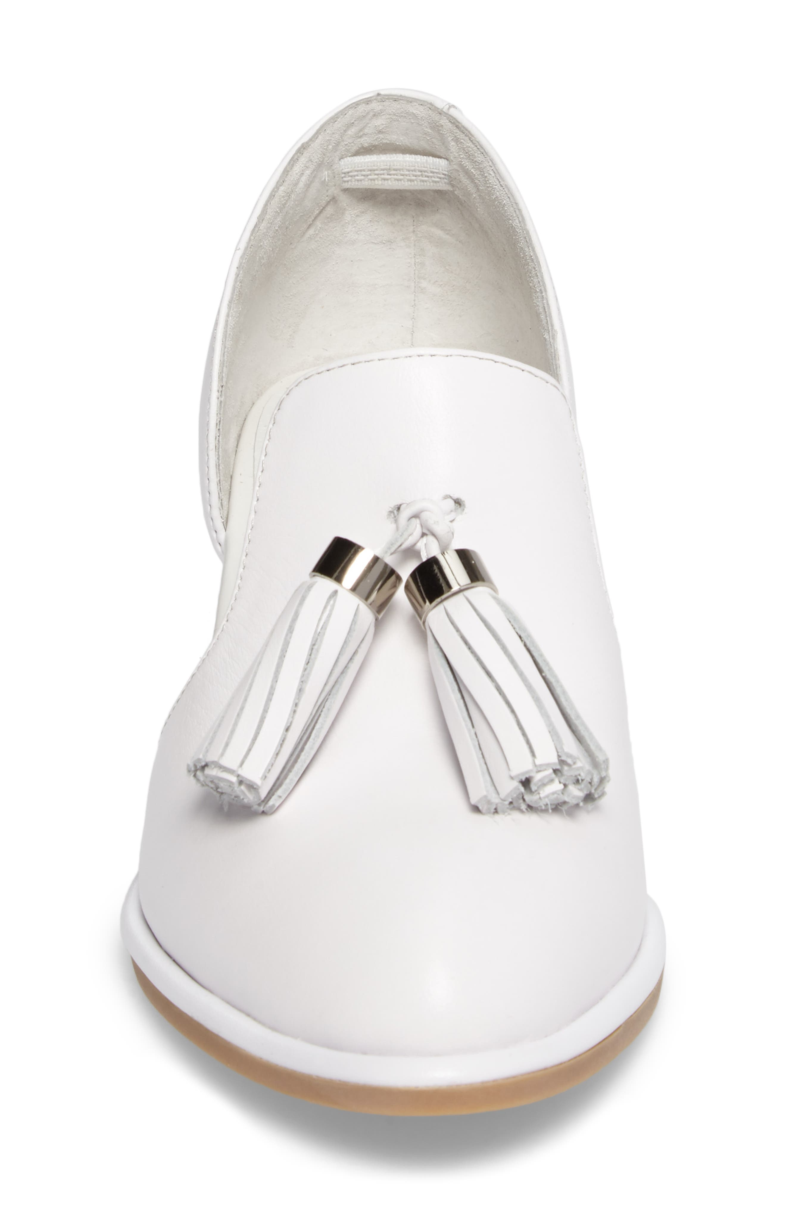 Alternate Image 4  - Jeffrey Campbell 'Civil' Pearly Heeled Beaded Tassel Loafer (Women)