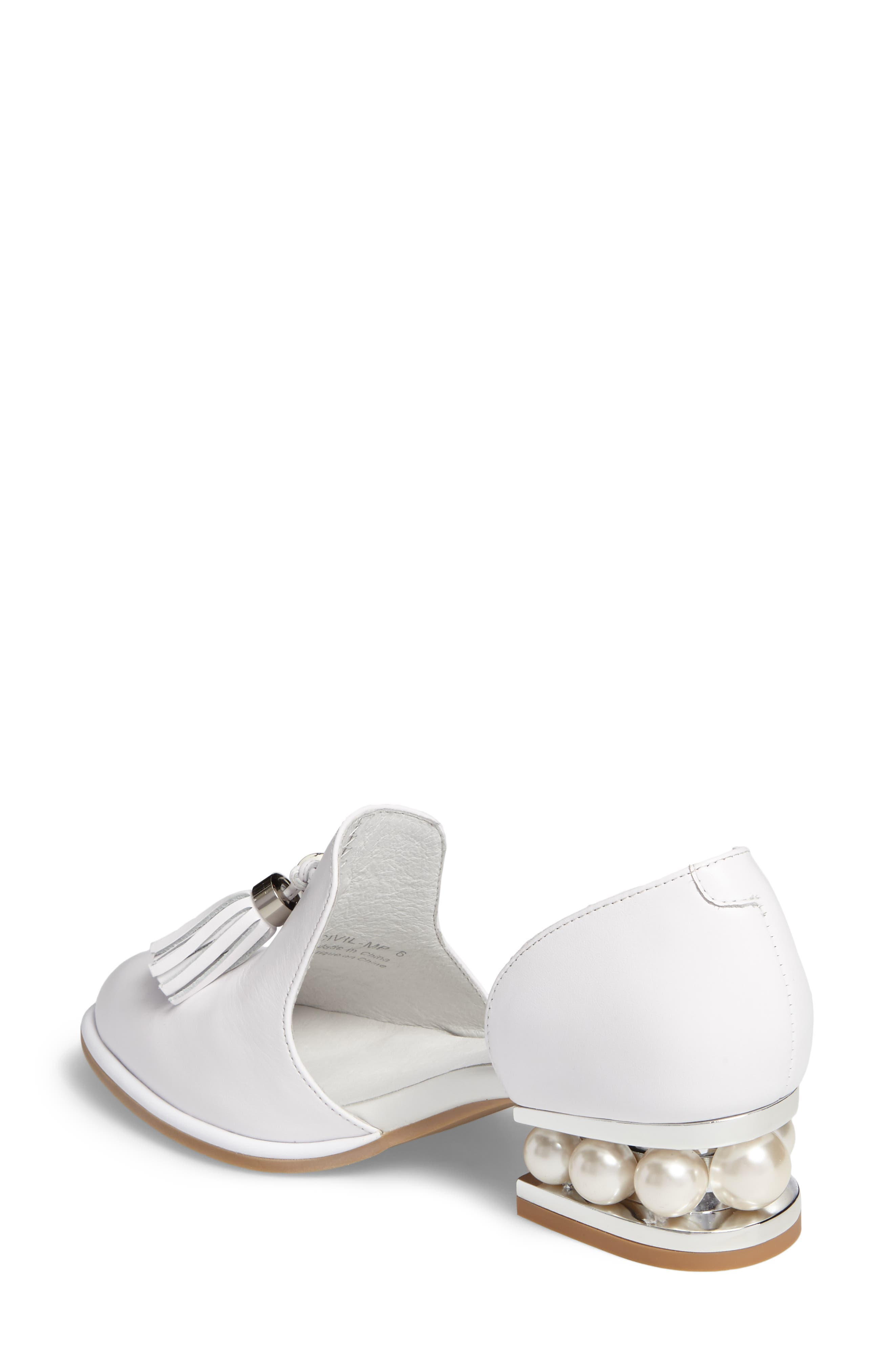 Alternate Image 2  - Jeffrey Campbell 'Civil' Pearly Heeled Beaded Tassel Loafer (Women)